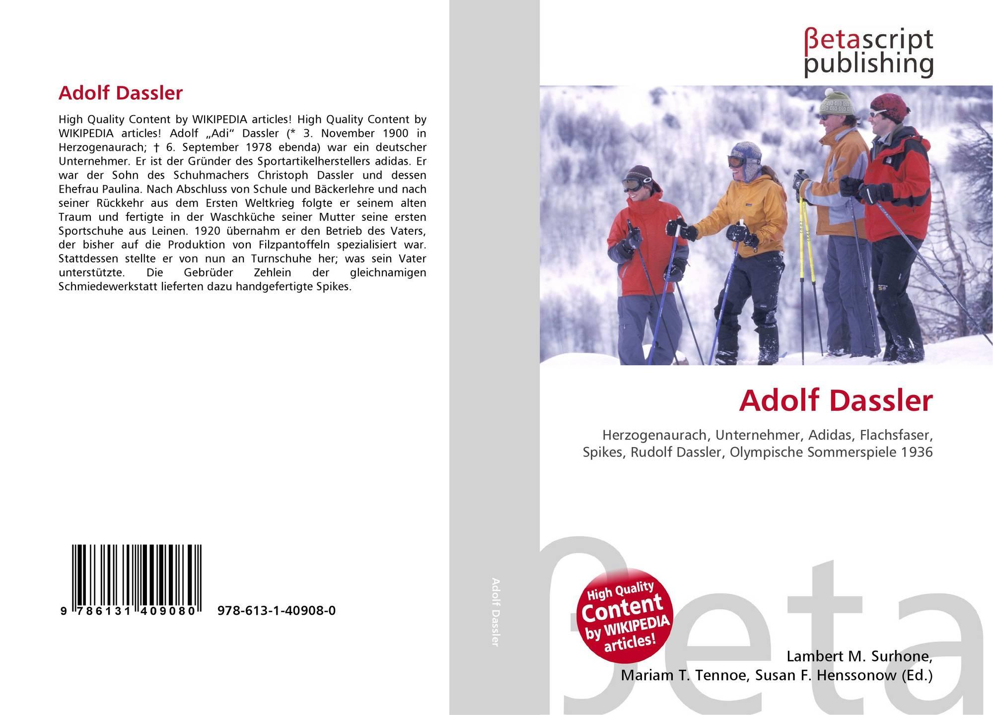 Adolf Dassler, 978 613 1 40908 0, 6131409080 ,9786131409080