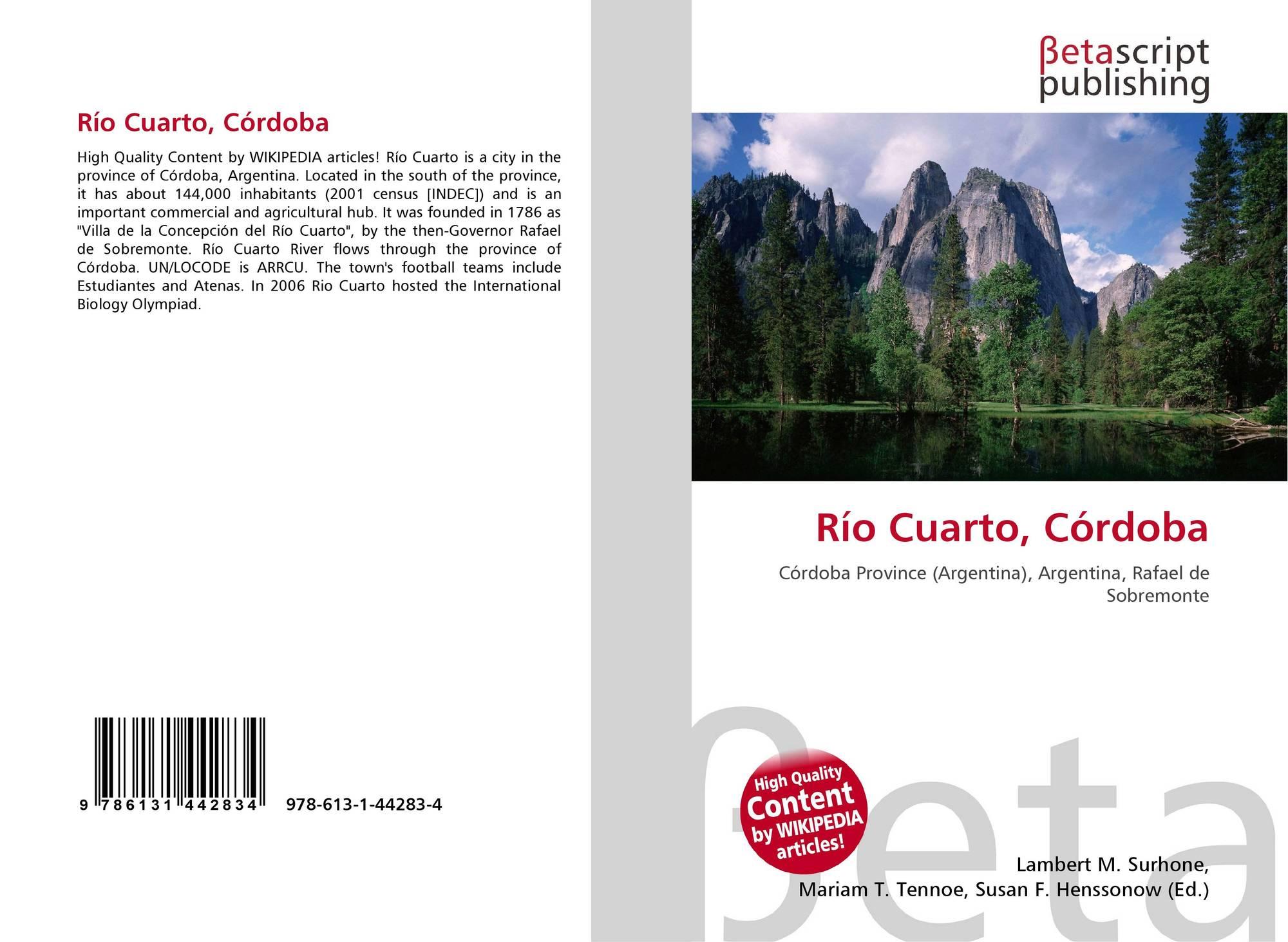 Río Cuarto, Córdoba, 978-613-1-44283-4, 6131442835 ,9786131442834