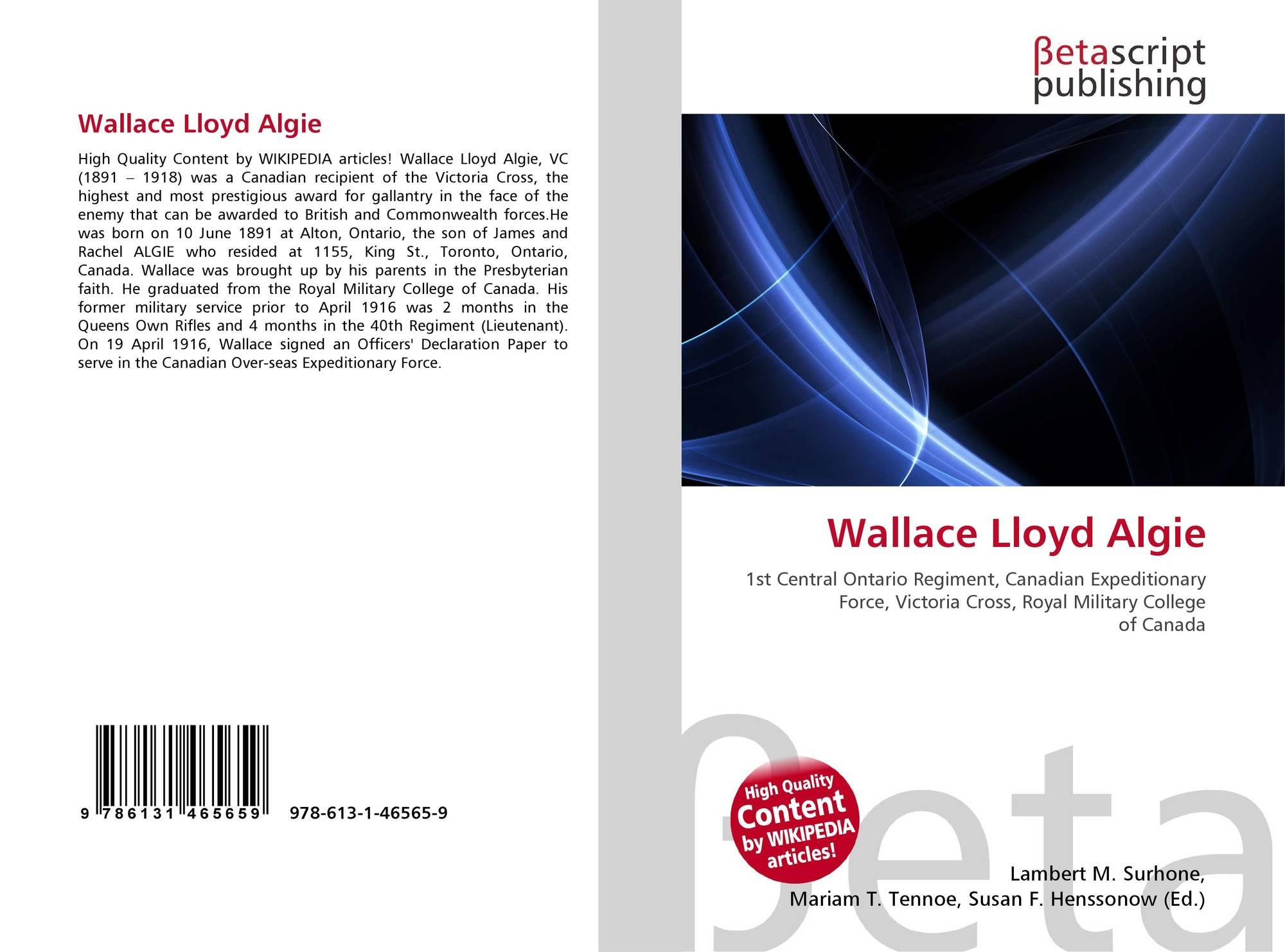Wallace Lloyd Algie
