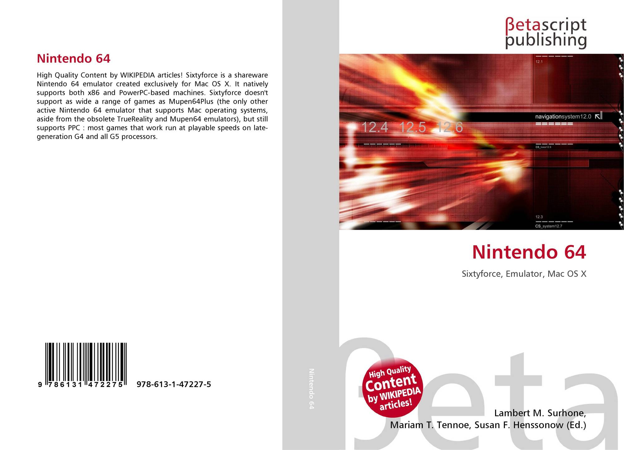 Nintendo 64, 978-613-1-47227-5, 6131472270 ,9786131472275