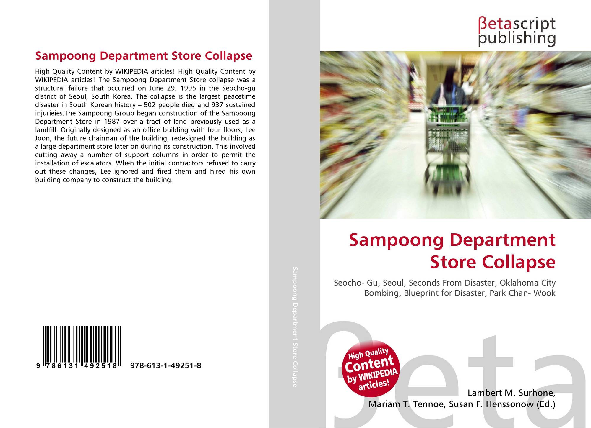 Sampoong department store collapse 978 613 1 49251 8 6131492514 9786131492518 malvernweather