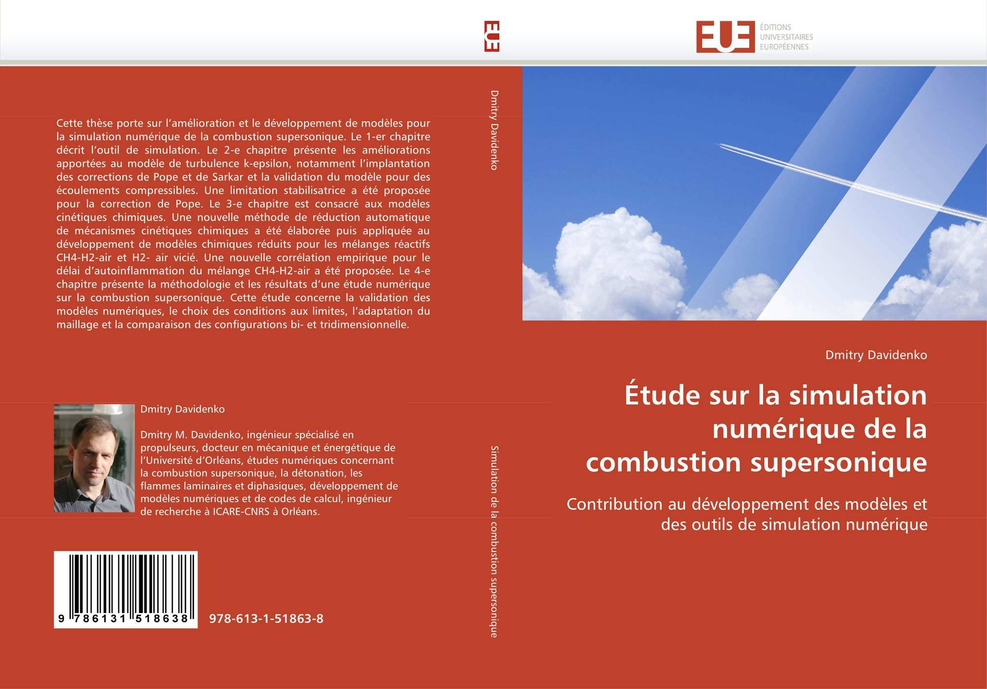 Couverture de Étude sur la simulation numérique de la combustion  supersonique