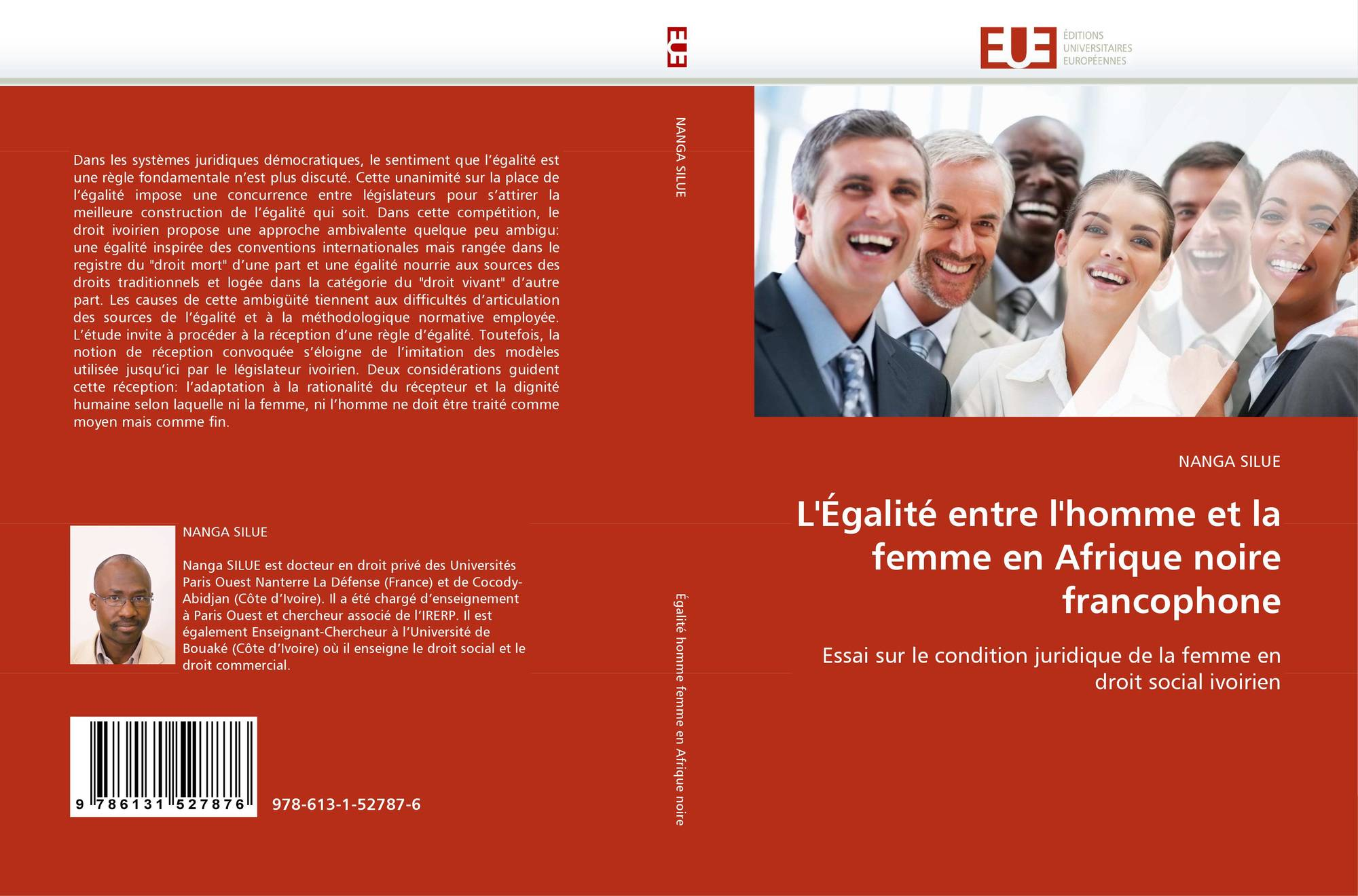 l 39 galit entre l 39 homme et la femme en afrique noire francophone 978 613 1 52787 6 6131527873. Black Bedroom Furniture Sets. Home Design Ideas