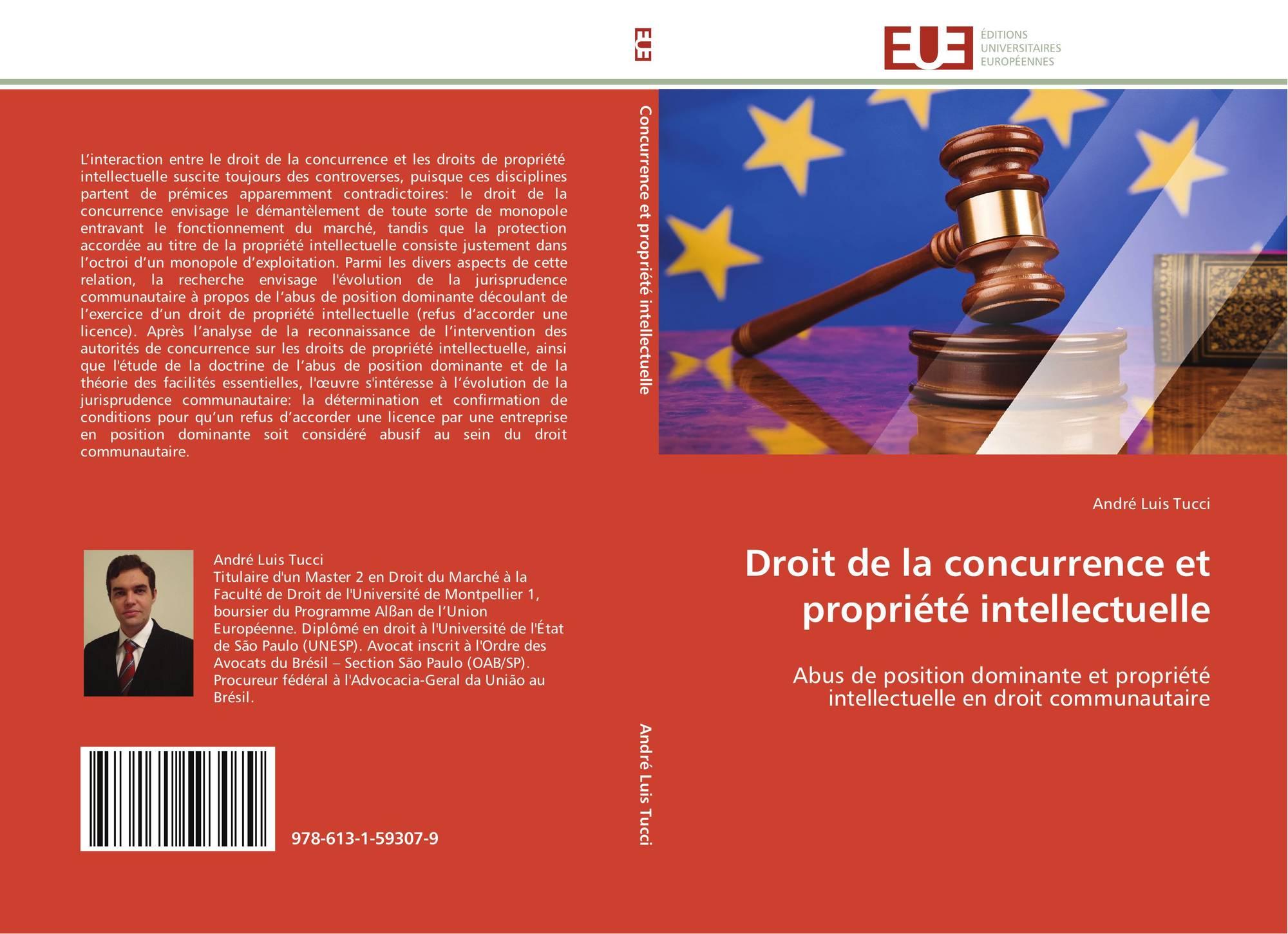 Droit De La Concurrence Et Propriete Intellectuelle 978 613 1 59307