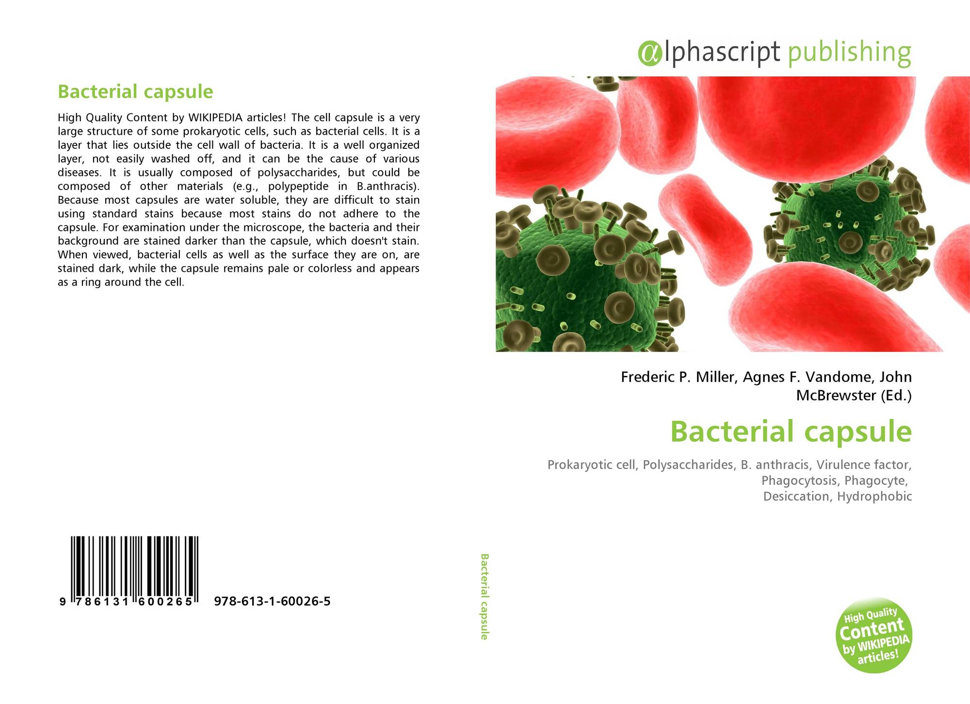 Bacterial Capsule 978 613 1 60026 5 6131600260 9786131600265 Fimbriae Prokaryotic Cell Edition