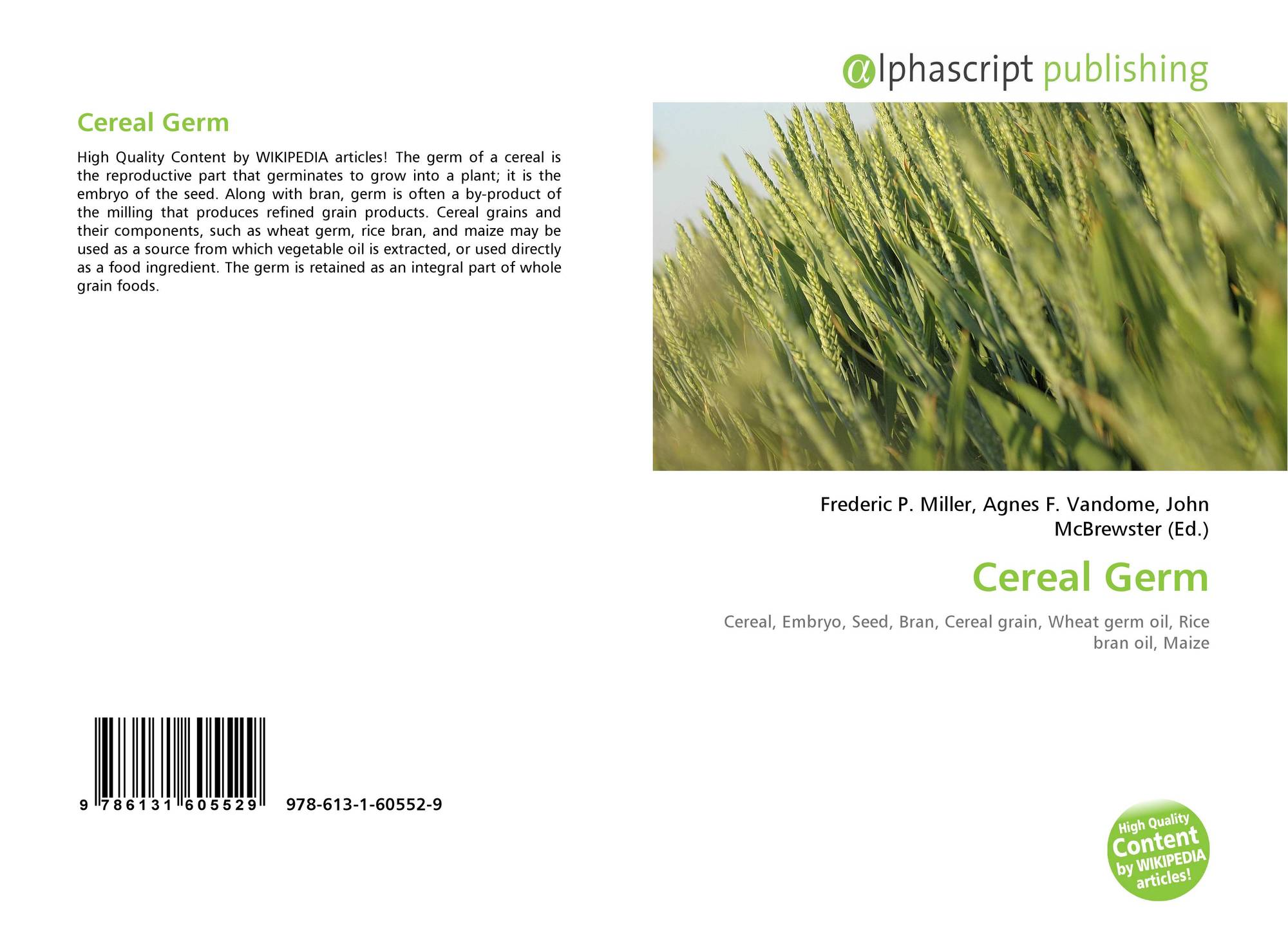 Cereal Germ, 978-613-1-60552-9, 6131605521 ,9786131605529