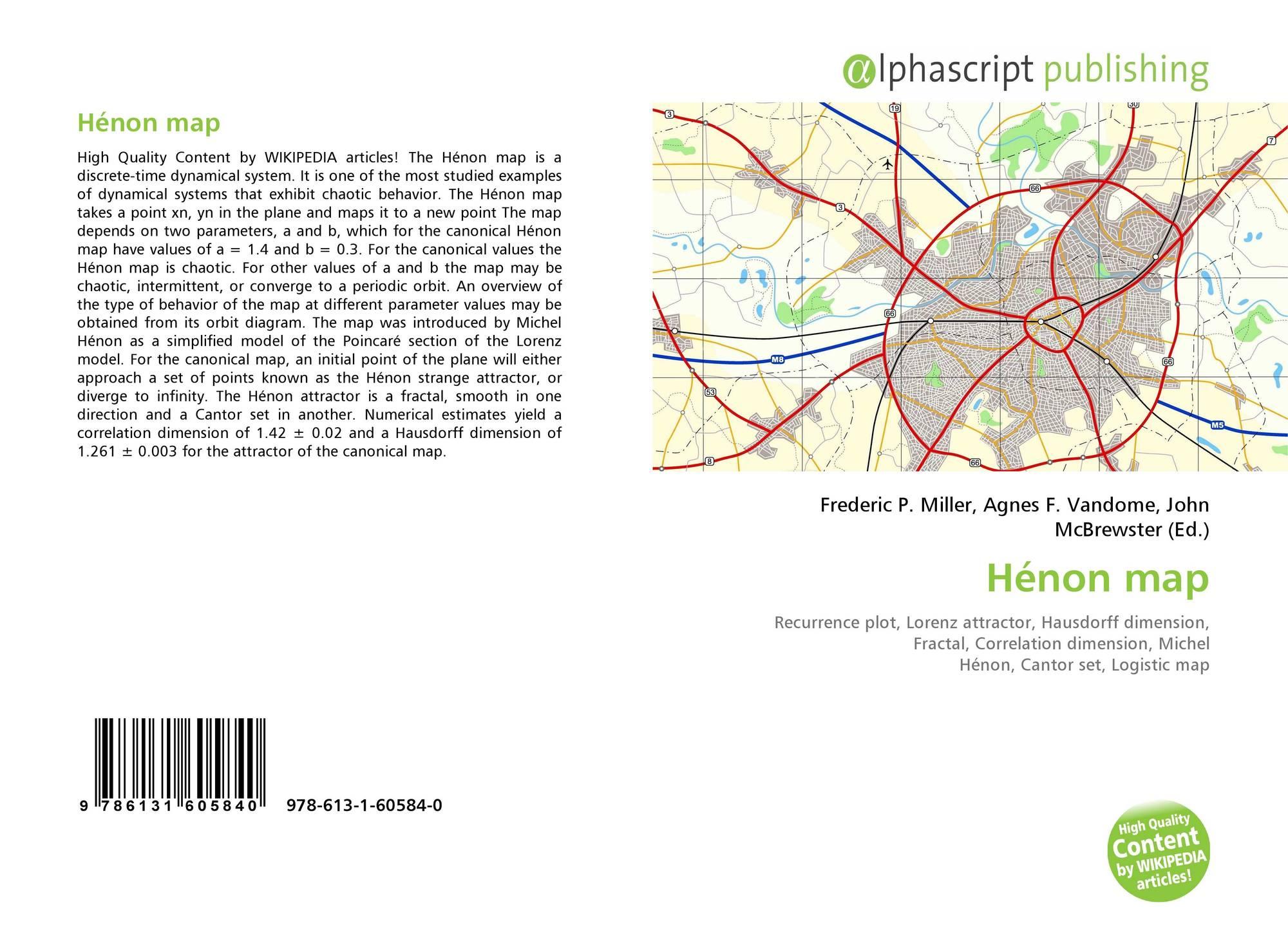 Hénon map, 978-613-1-60584-0, 613160584X ,9786131605840 on