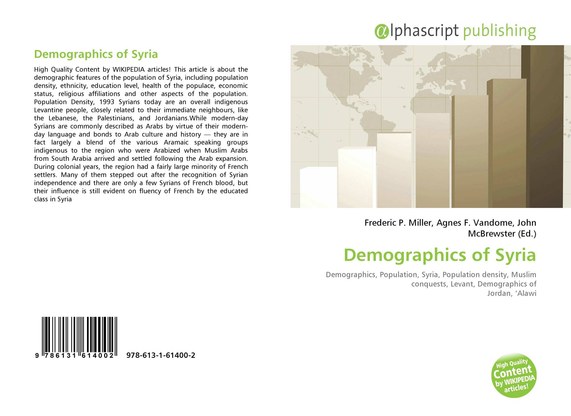 Demographics of Syria, 978-613-1-61400-2, 6131614008