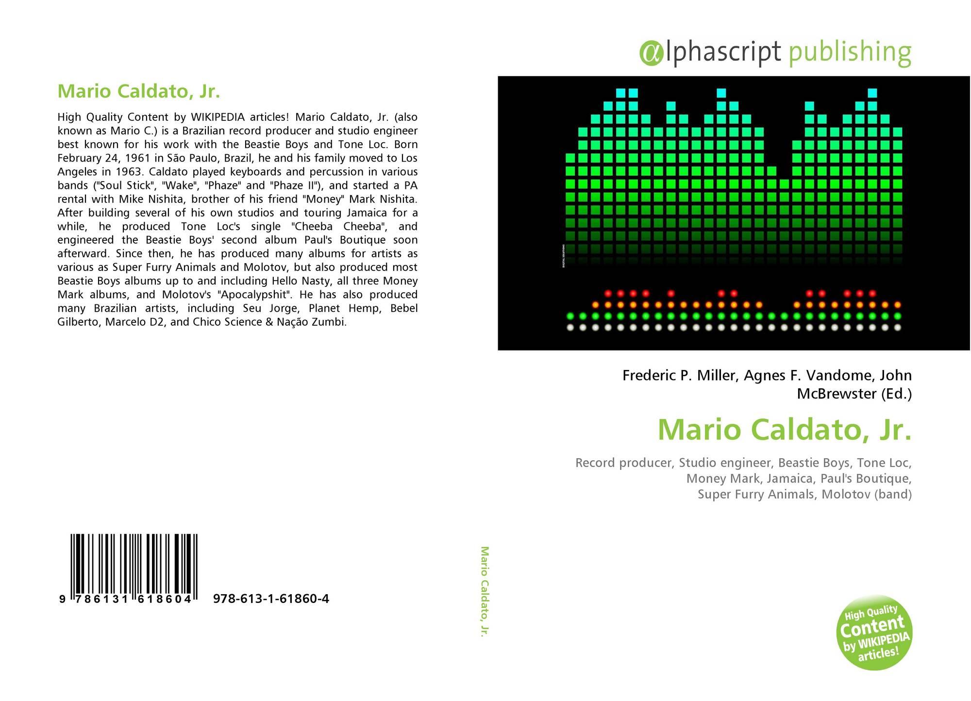 Mario Caldato, Jr , 978-613-1-61860-4, 6131618607 ,9786131618604