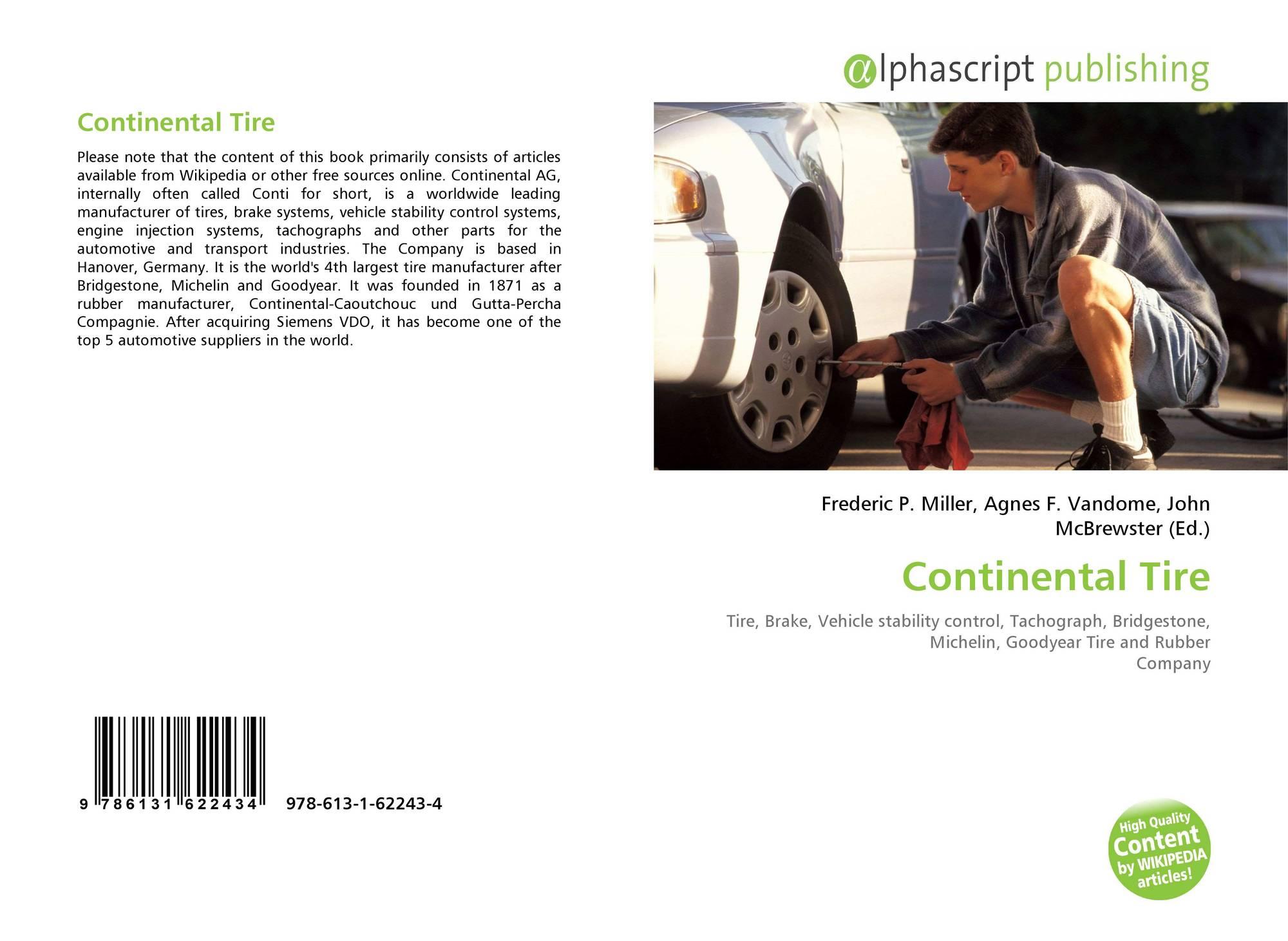 Continental Tire, 978 613 1 62243 4, 6131622434 ,9786131622434