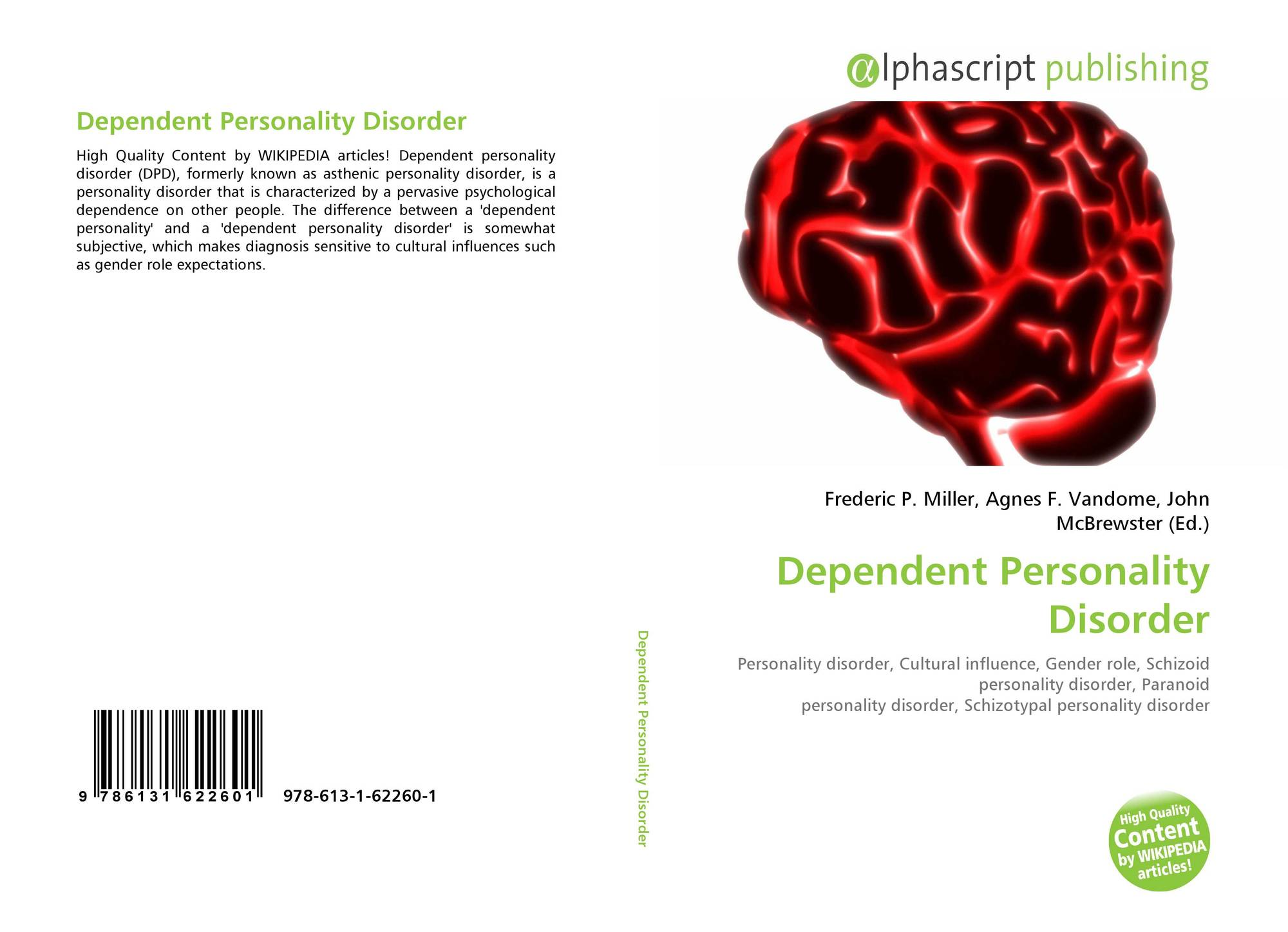 Dependent Personality Disorder, 978-613-1-62260-1