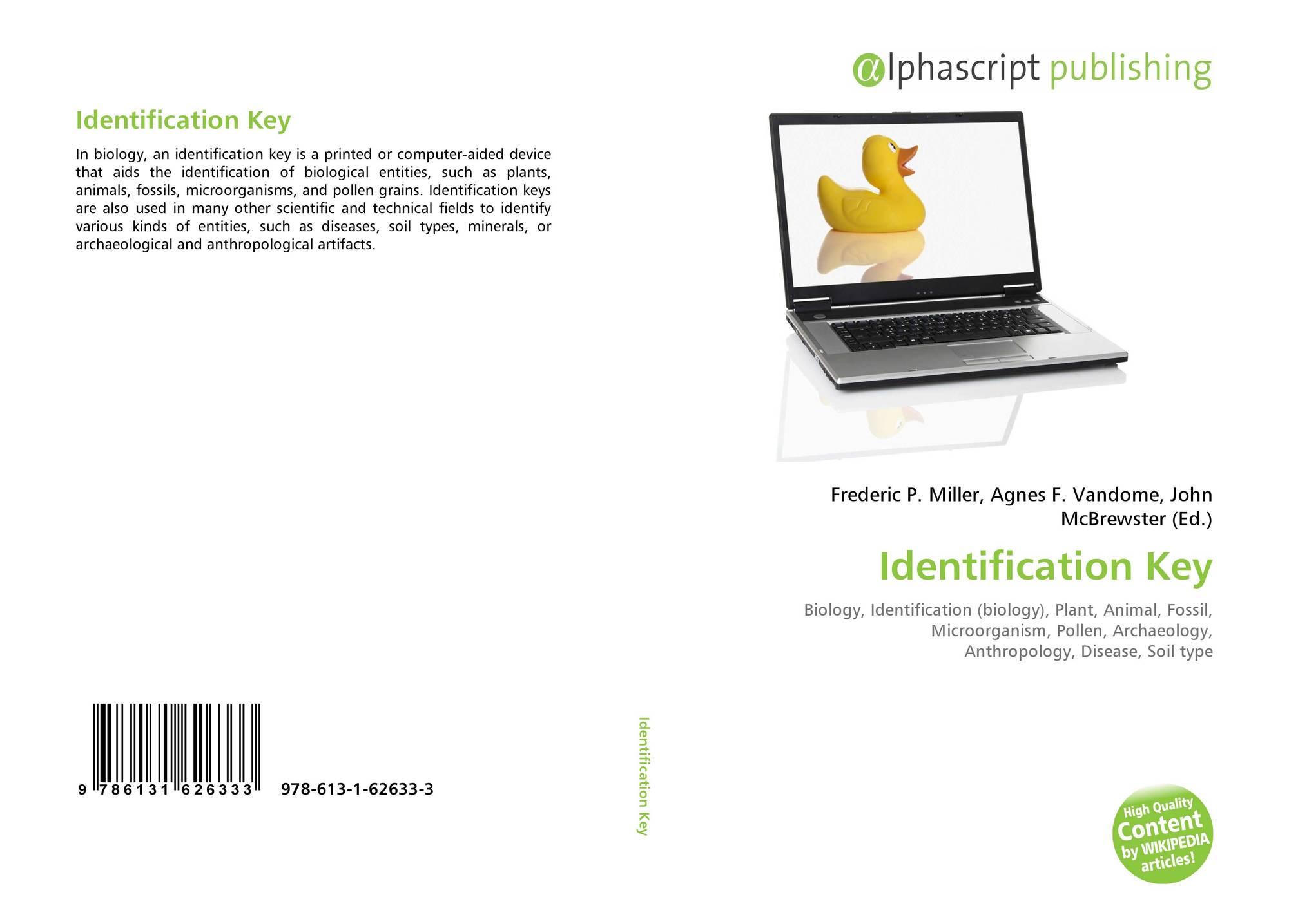 Identification Key, 978-613-1-62633-3, 6131626332 ,9786131626333