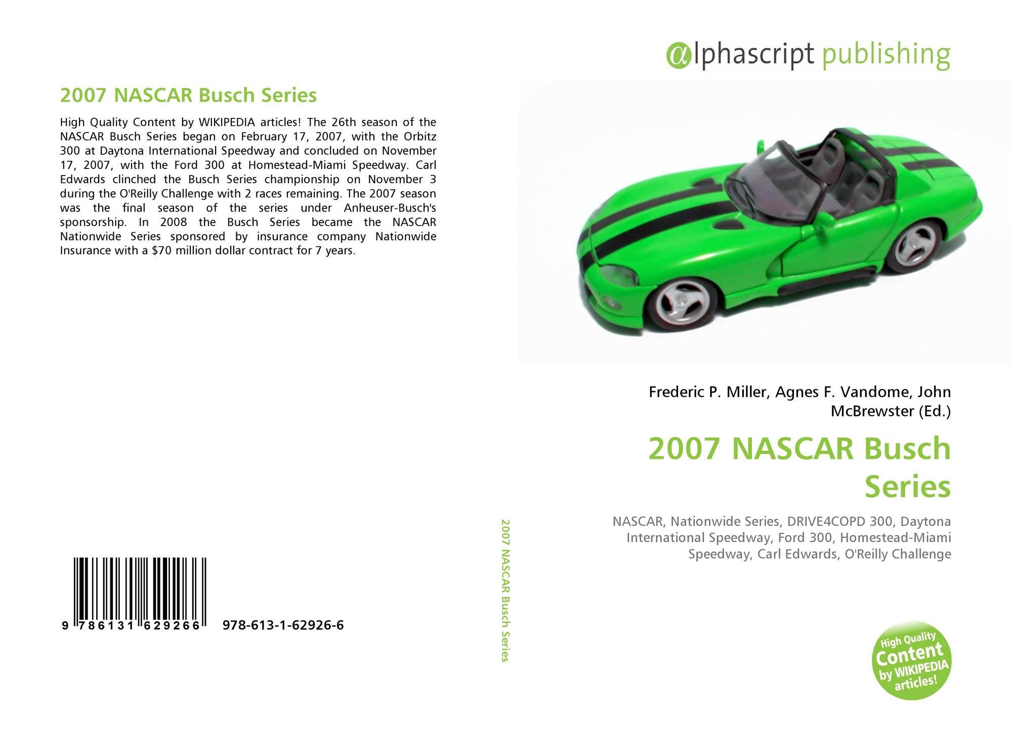 2007 NASCAR Busch Series 978 613 1 62926 6 6131629269 9786131629266