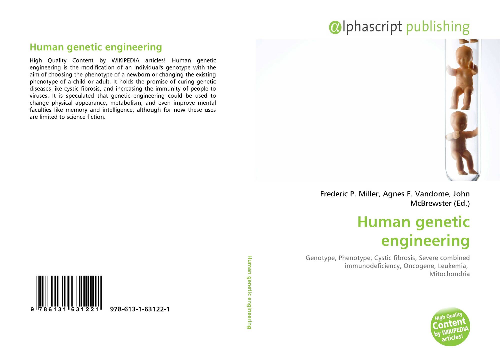 Genetic engineering wikipedia - Bookcover Of Human Genetic Engineering