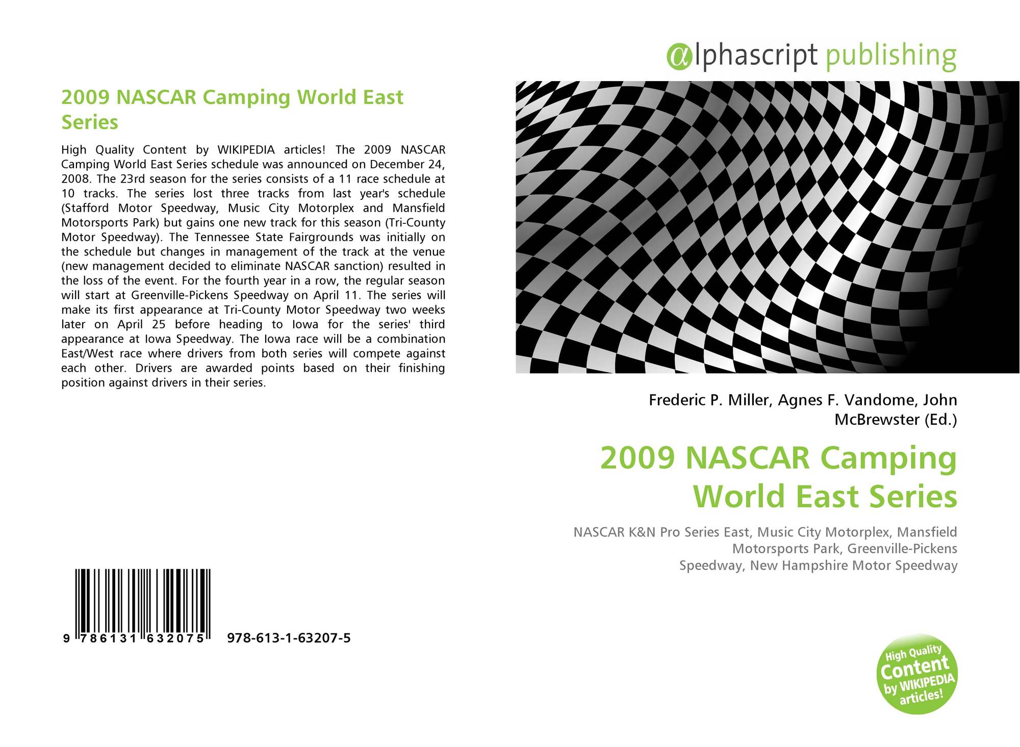 cfc86995f Bookcover of 2009 NASCAR Camping World East Series. 9786131632075