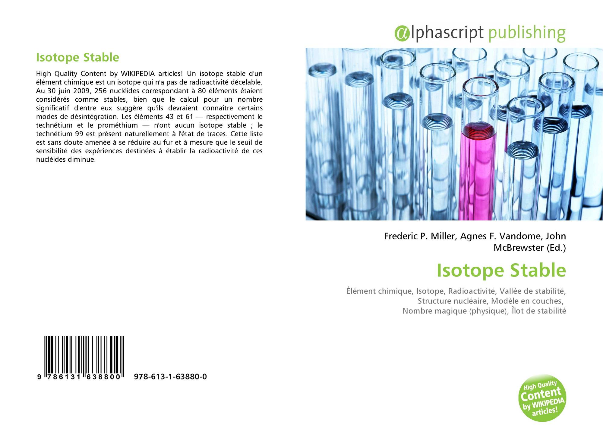 how to find stable isotopes