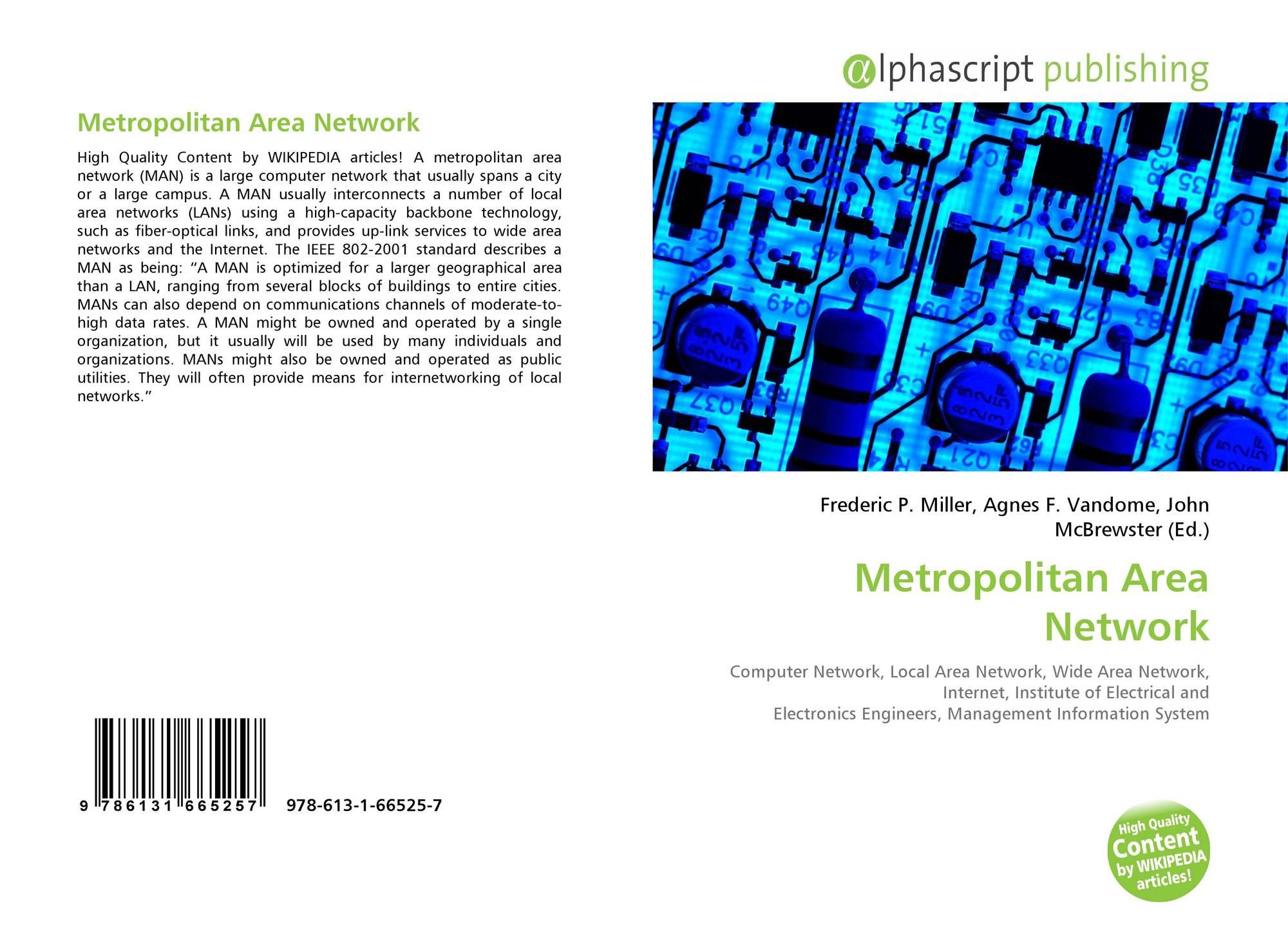 Metropolitan Area Network, 978-613-1-66525-7, 6131665257
