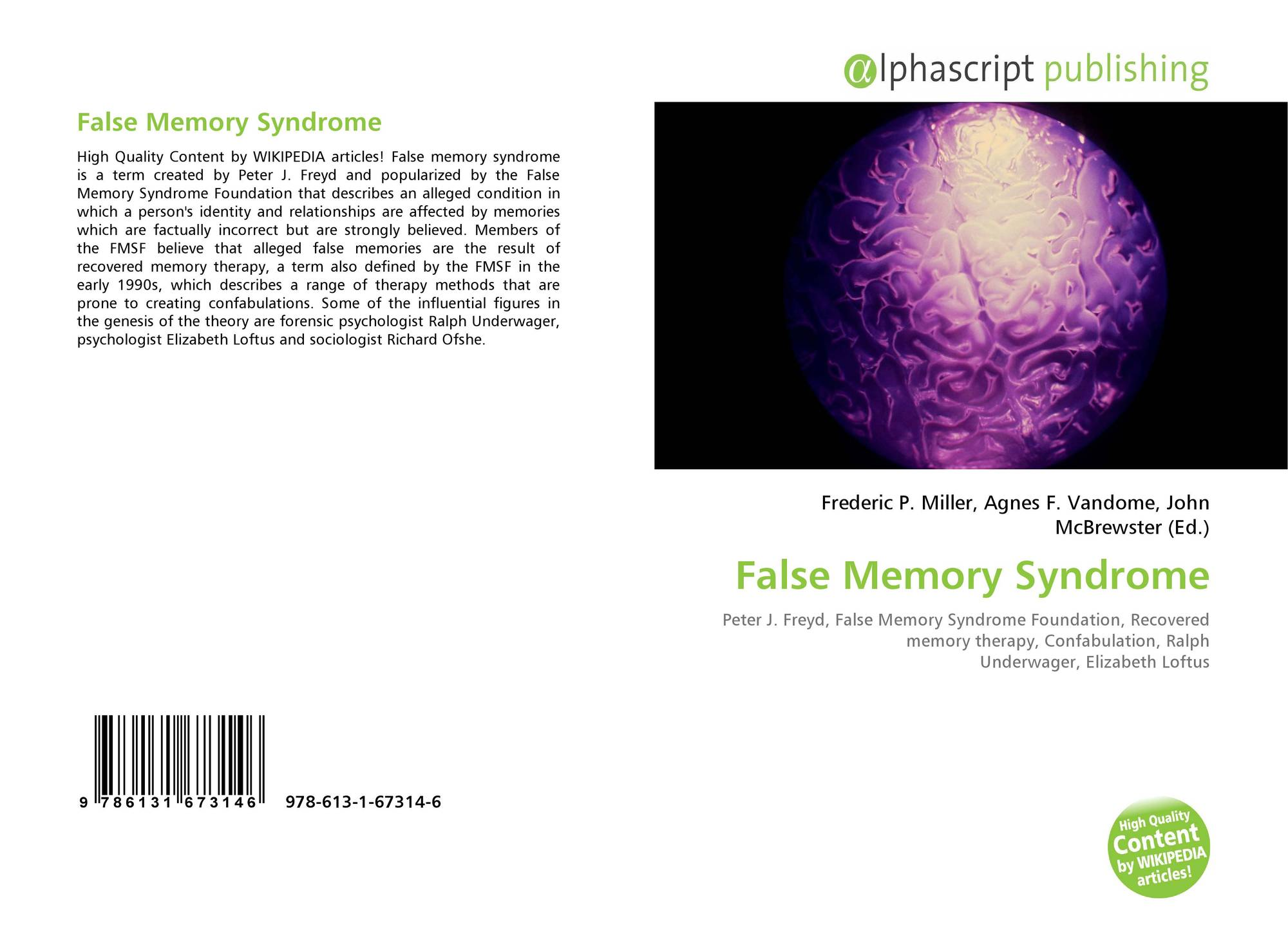 an introduction to the issue of false memory syndrome Social issues essays: false memory syndrome false memory syndrome this research paper false memory syndrome and other 63,000+ term papers, college essay examples and free essays are available now on reviewessayscom.