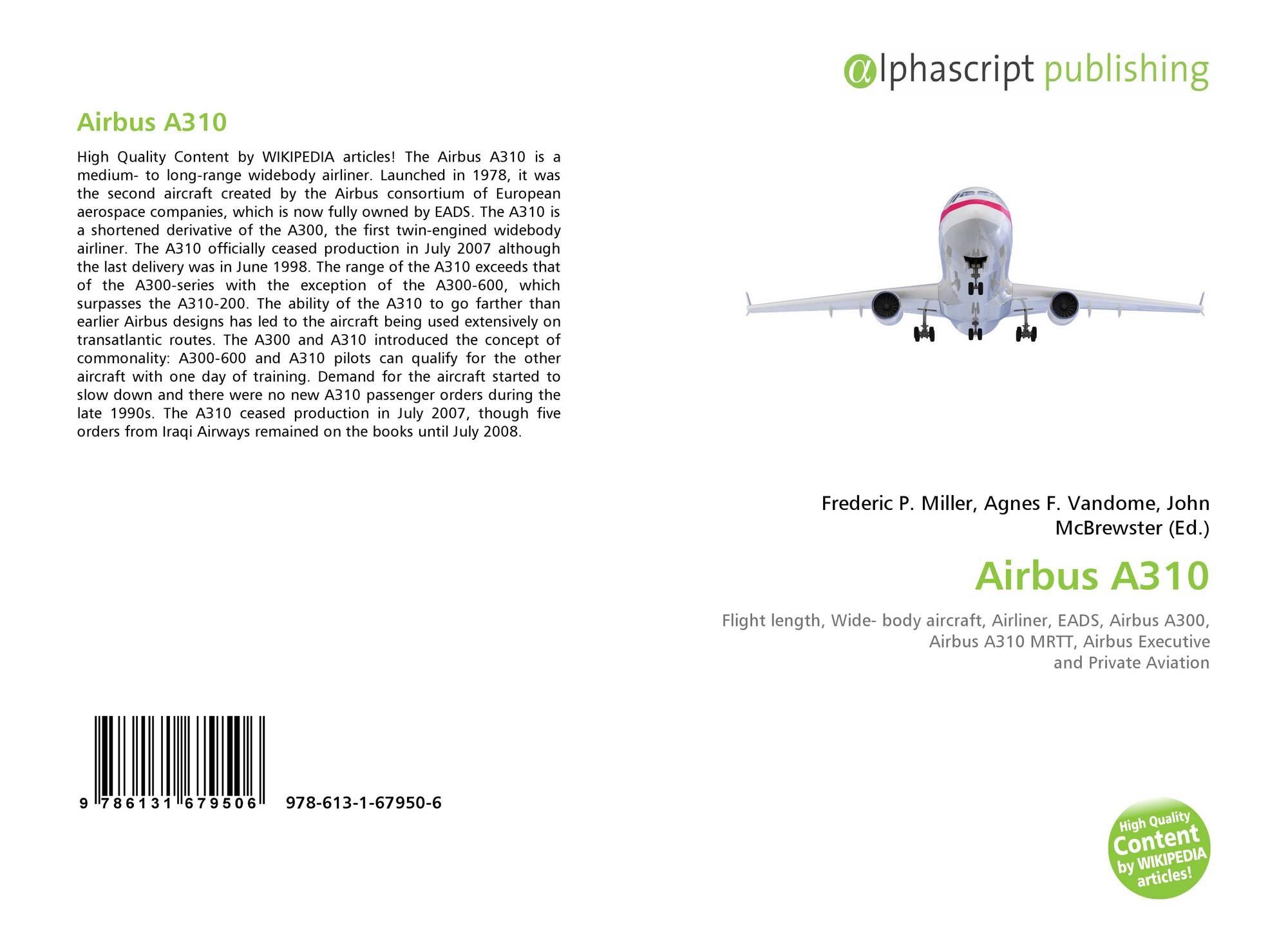 Airbus A310, 978-613-1-67950-6, 6131679509 ,9786131679506