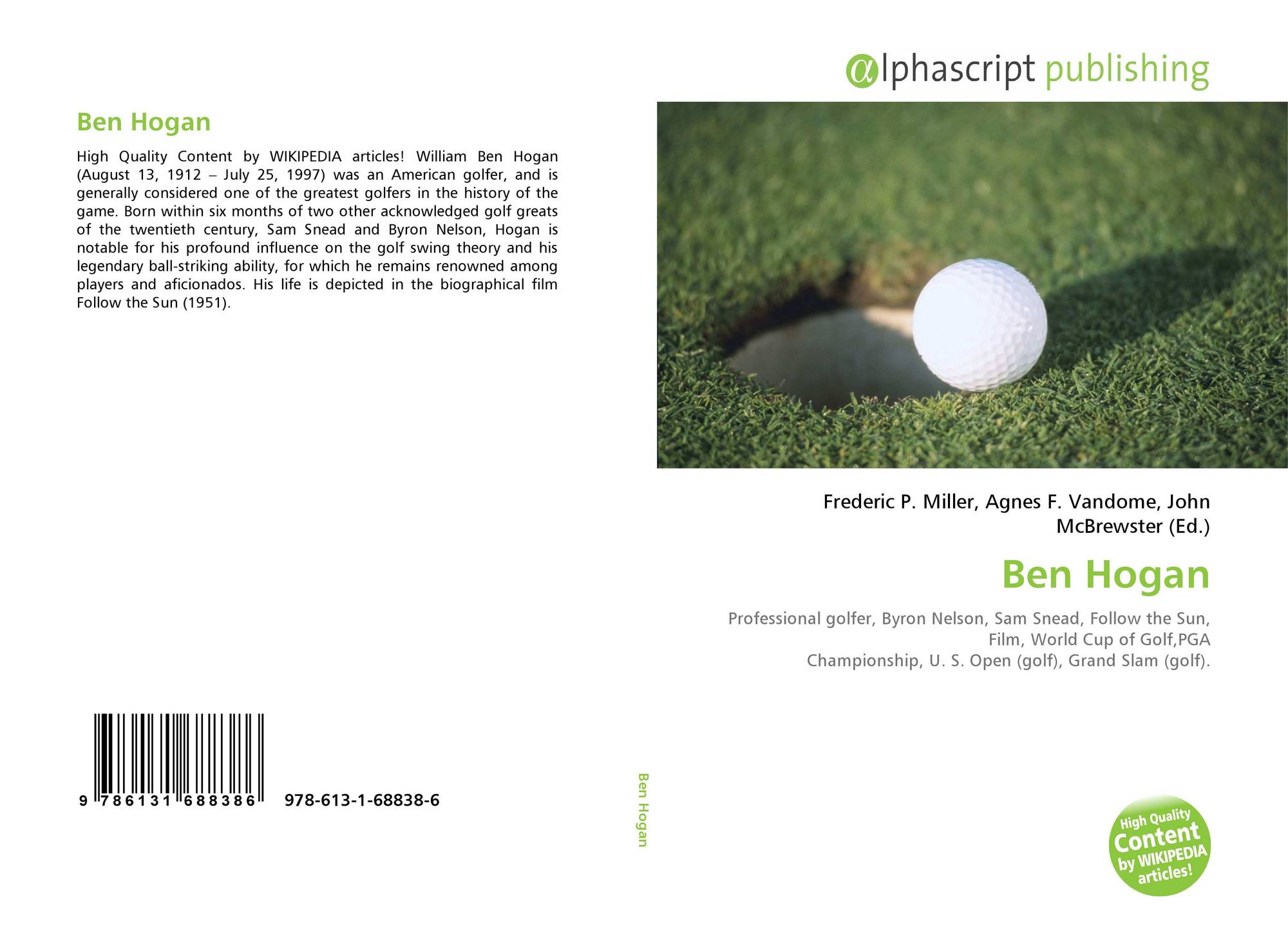 a biography of ben hogan an american professional golfer