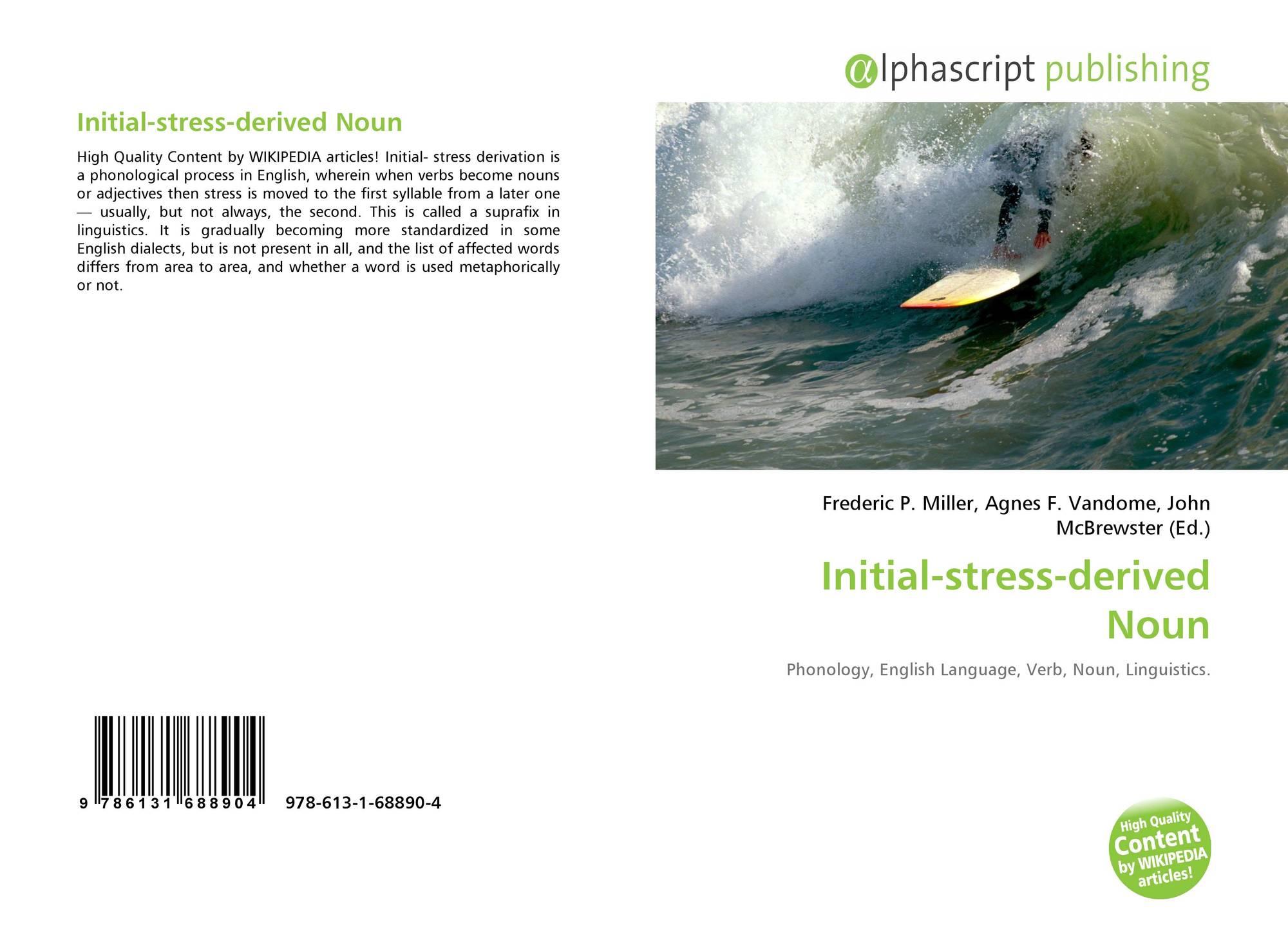 Initial-stress-derived Noun, 978-613-1-68890-4, 6131688907