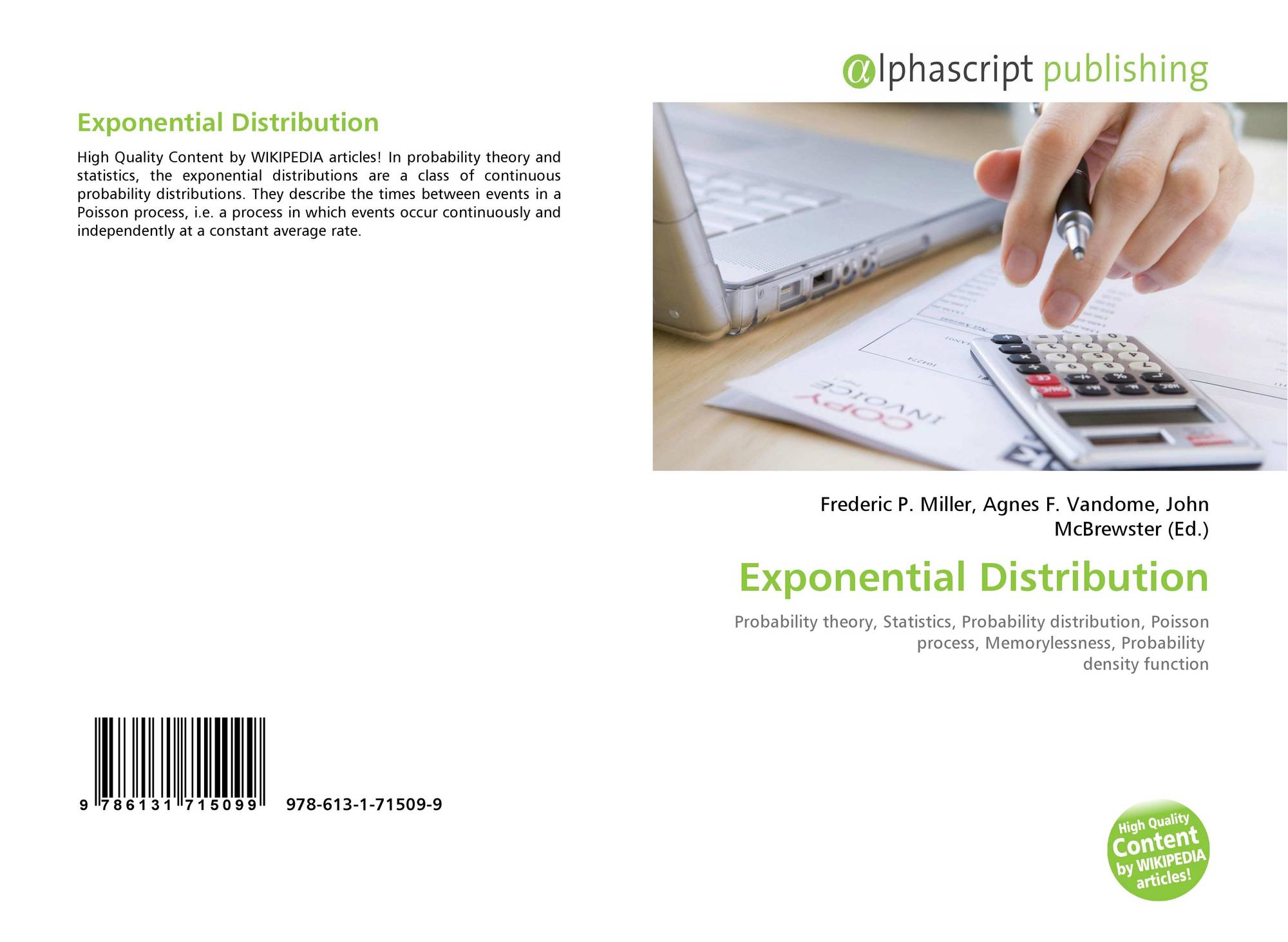 Exponential Distribution, 978-613-1-71509-9, 6131715092