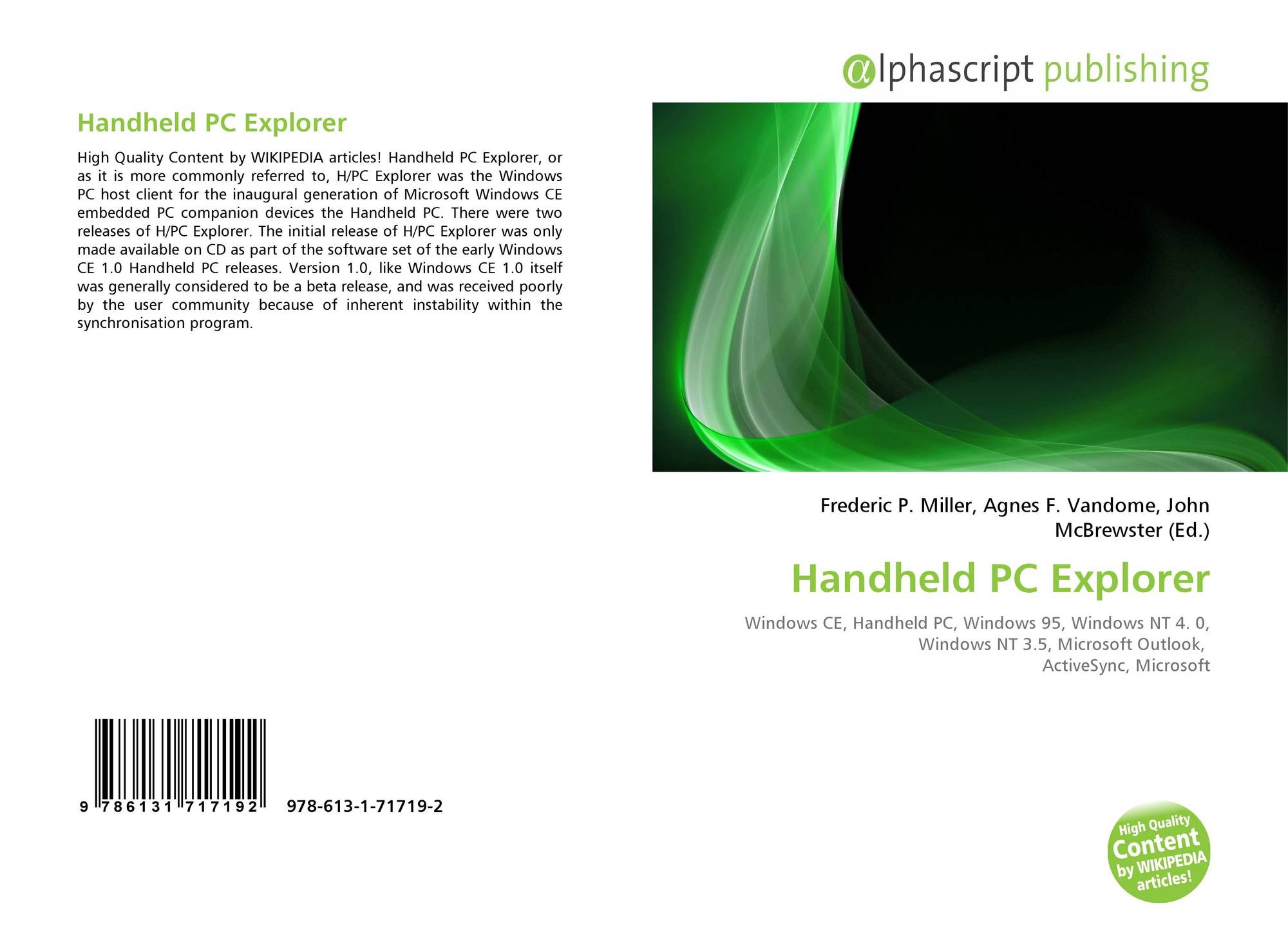 Handheld PC Explorer, 978-613-1-71719-2, 6131717192