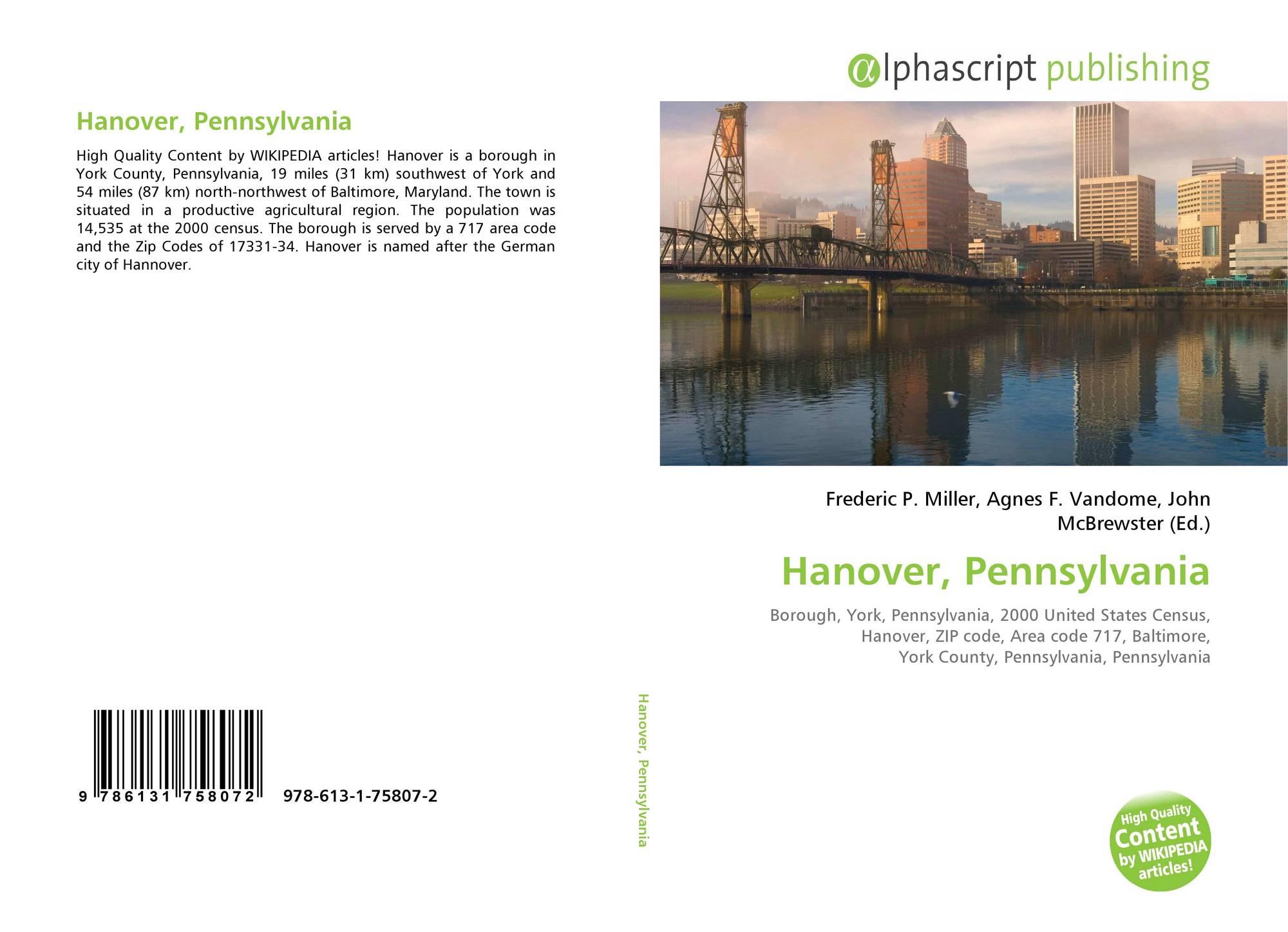 Hanover, Pennsylvania, 978-613-1-75807-2, 6131758077 ,9786131758072