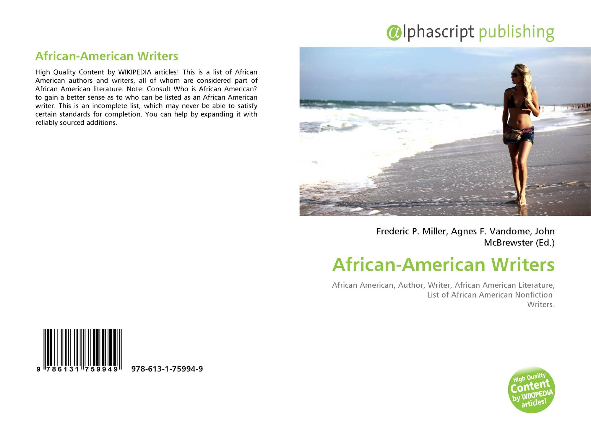 African-American Writers, 978-613-1-75994-9, 6131759944