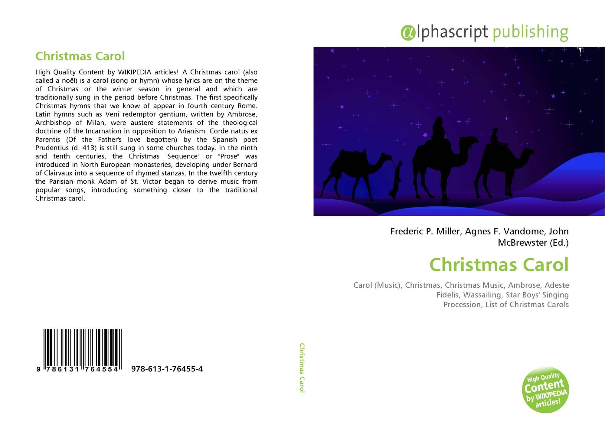 Christmas Carol, 978-613-1-76455-4, 6131764557 ,9786131764554
