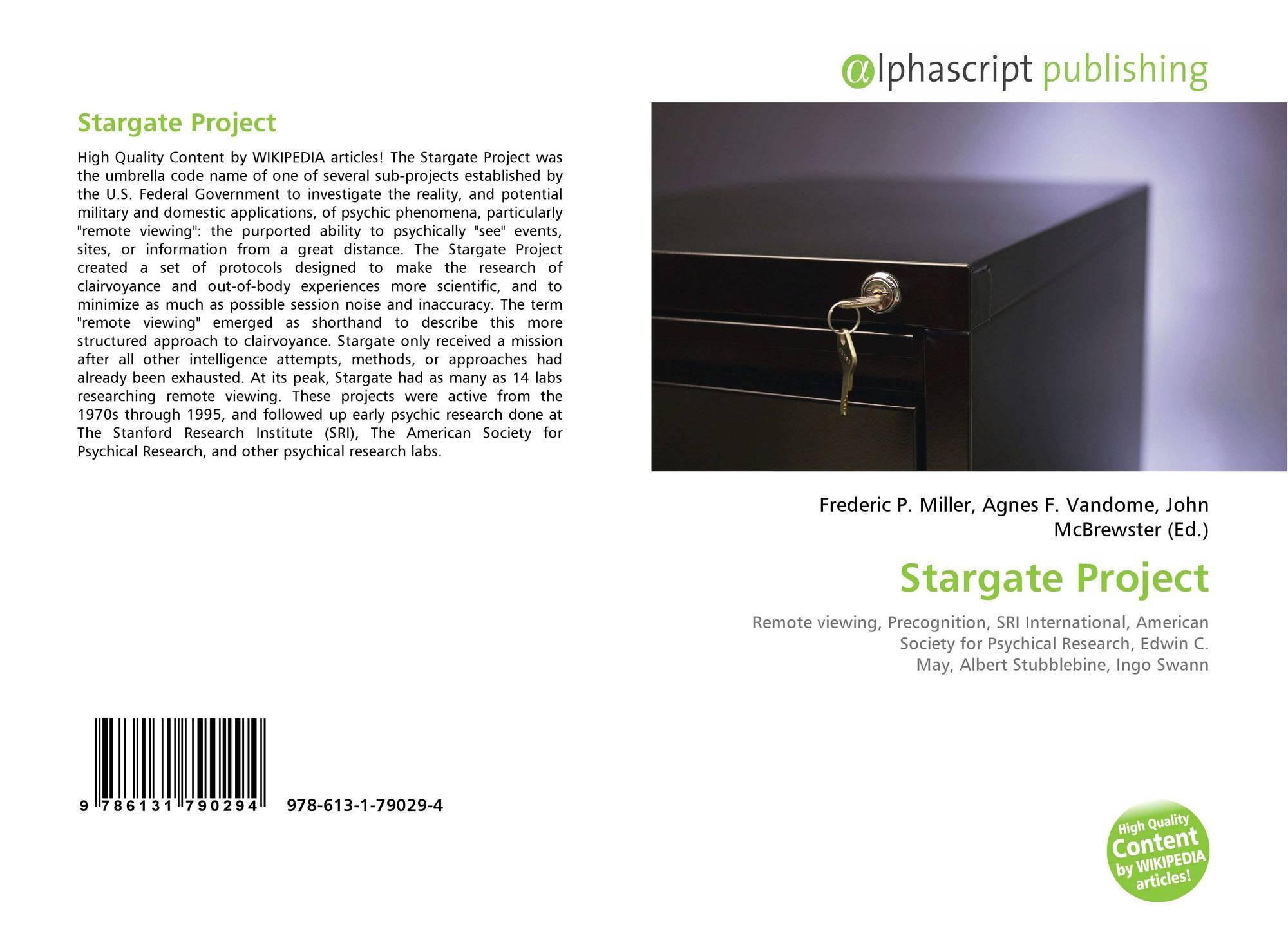 Stargate Project, 978-613-1-79029-4, 6131790299 ,9786131790294