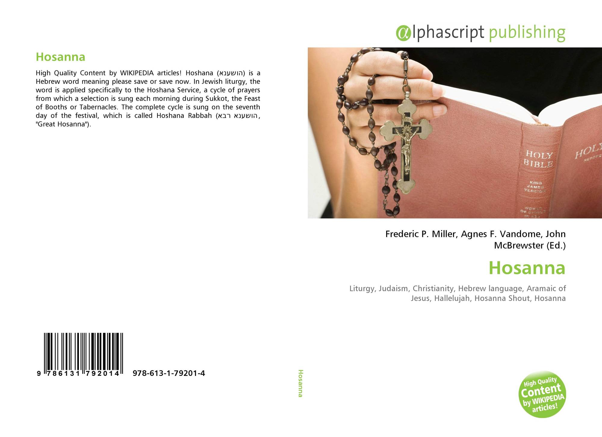 Hosanna, 978-613-1-79201-4, 6131792011 ,9786131792014