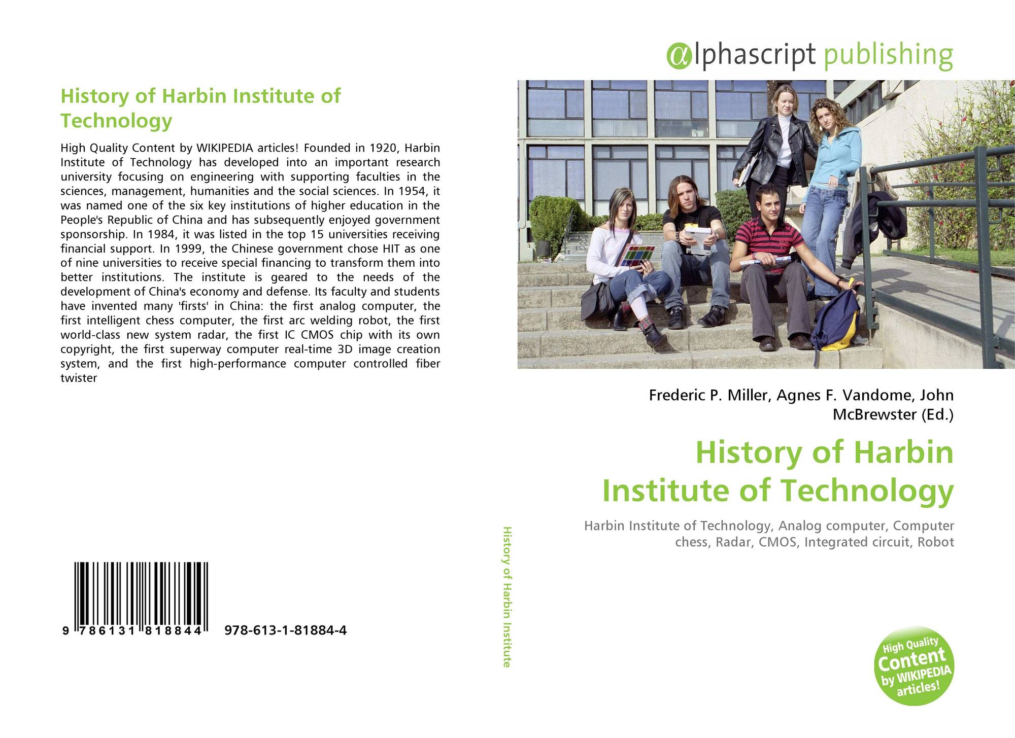 History Of Harbin Institute Technology 978 613 1 81884 4 Integrated Circuits Quality For Bookcover 9786131818844