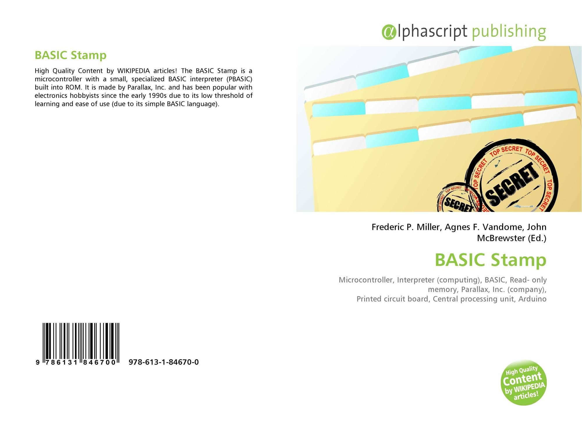BASIC Stamp, 978-613-1-84670-0, 6131846707 ,9786131846700