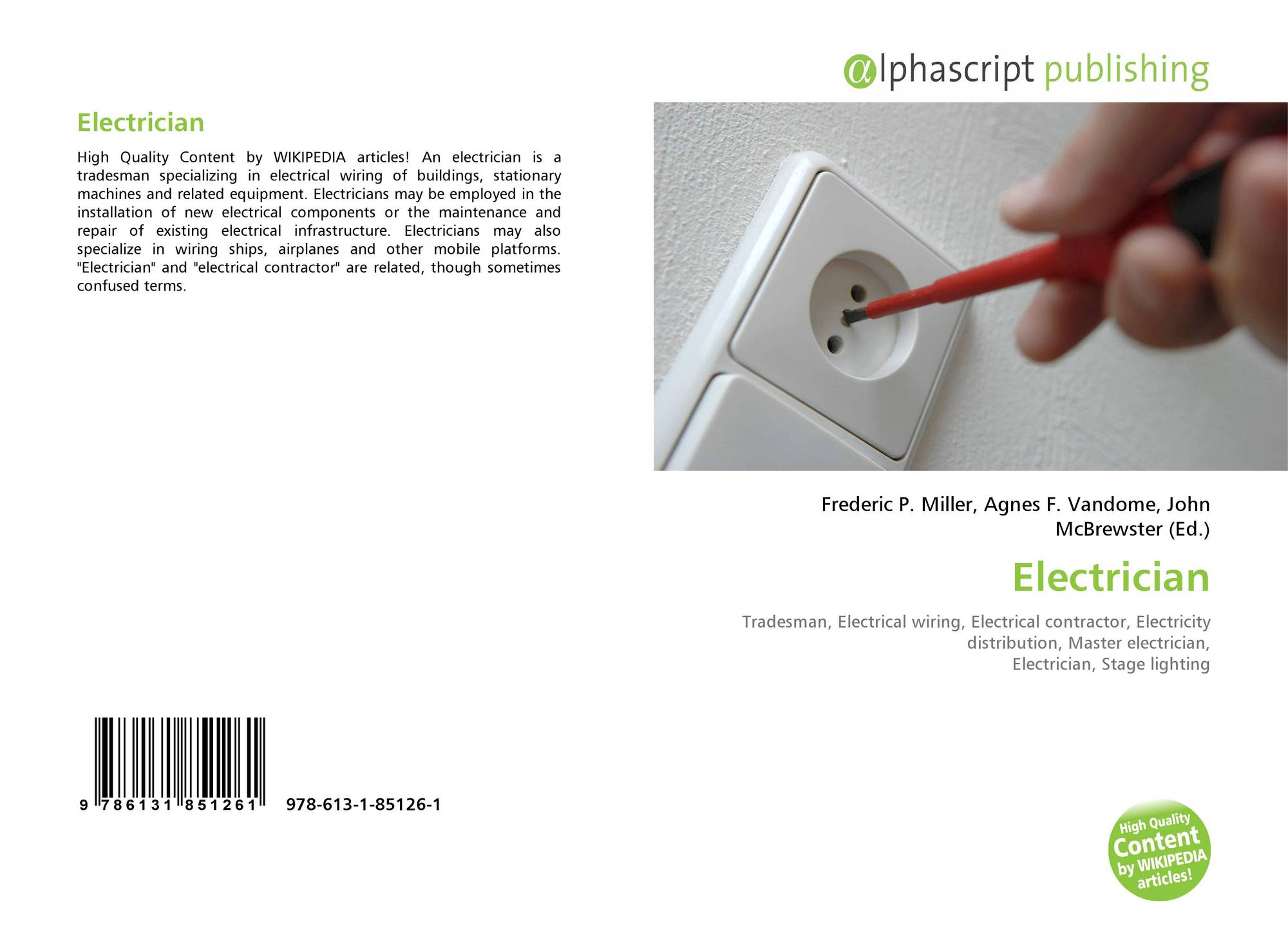 Electrician 978 613 1 85126 6131851263 9786131851261 Electrical Wiring Terms
