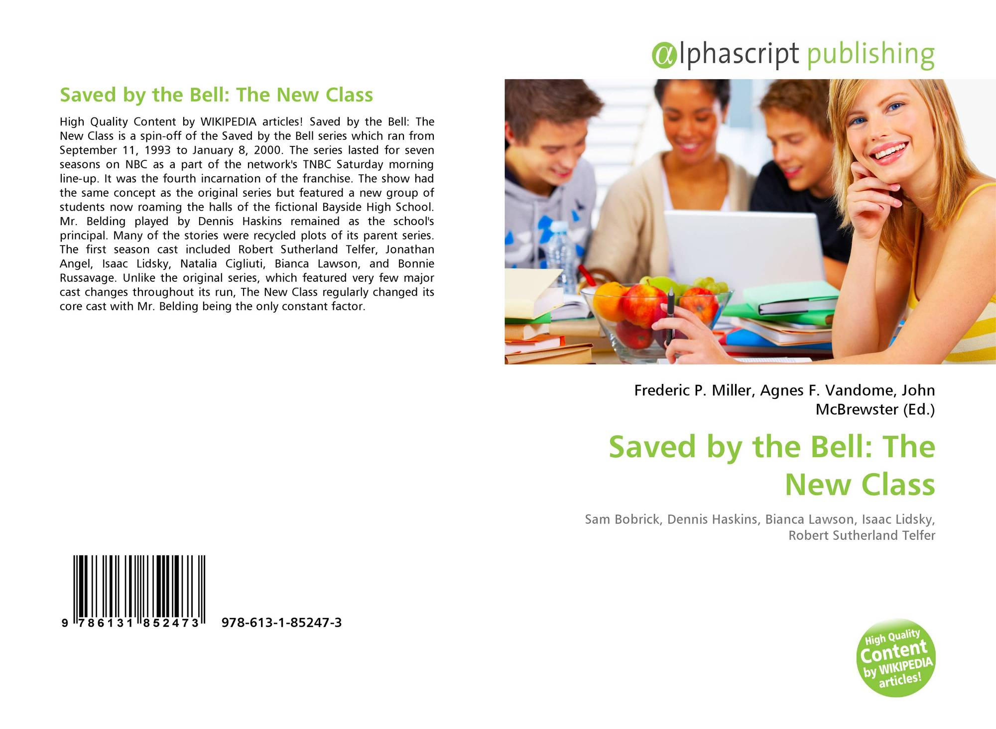 Saved by the Bell: The New Class, 978-613-1-85247-3 ...