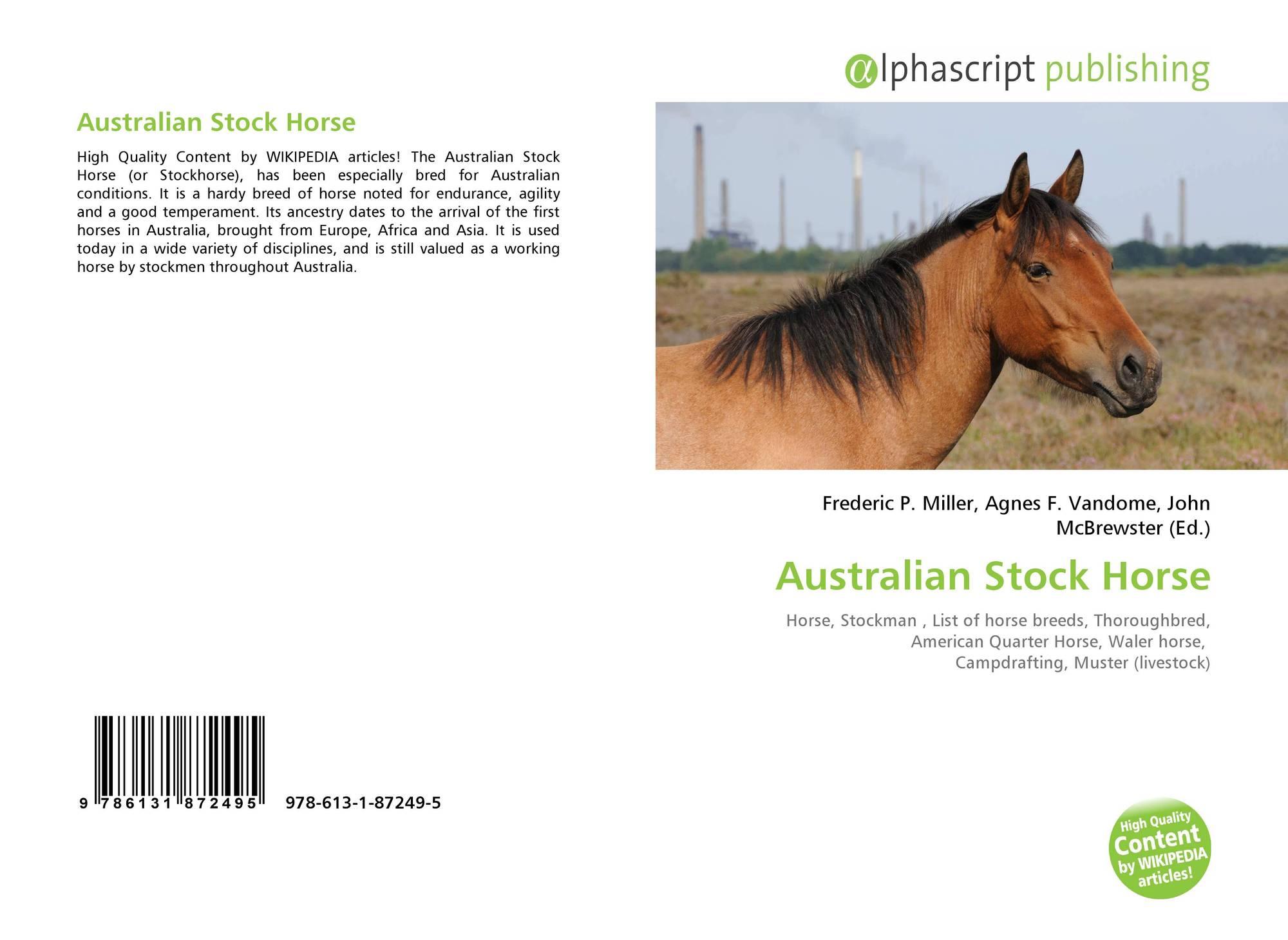 Australian Stock Horse 978 613 1 87249 5 613187249x 9786131872495
