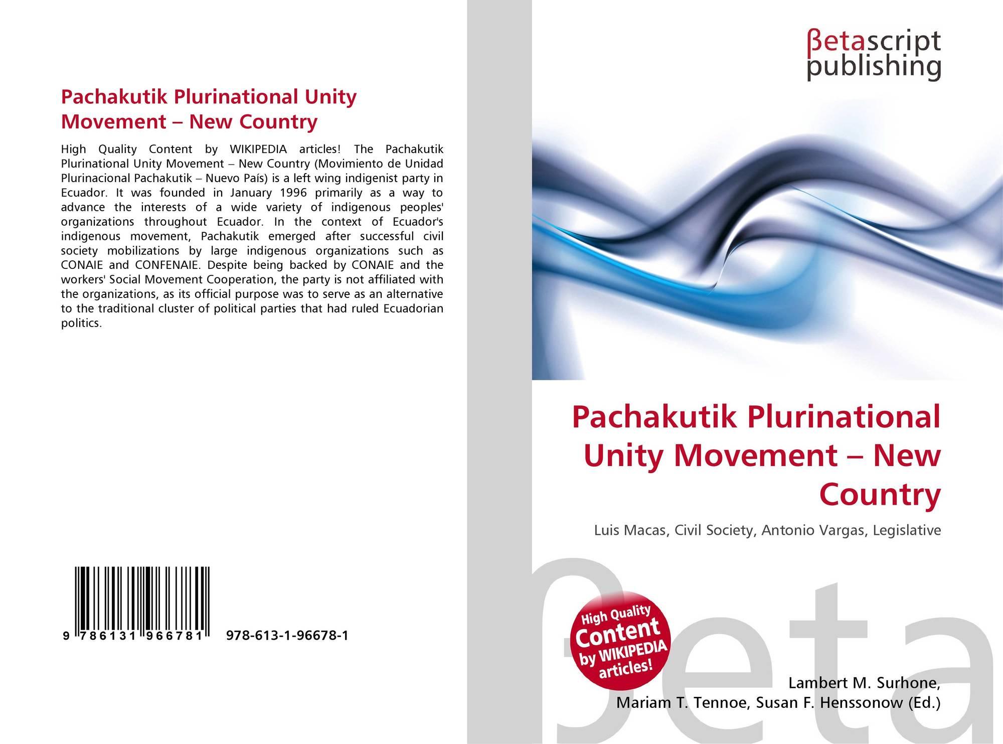 Pachakutik Plurinational Unity Movement – New Country, 978