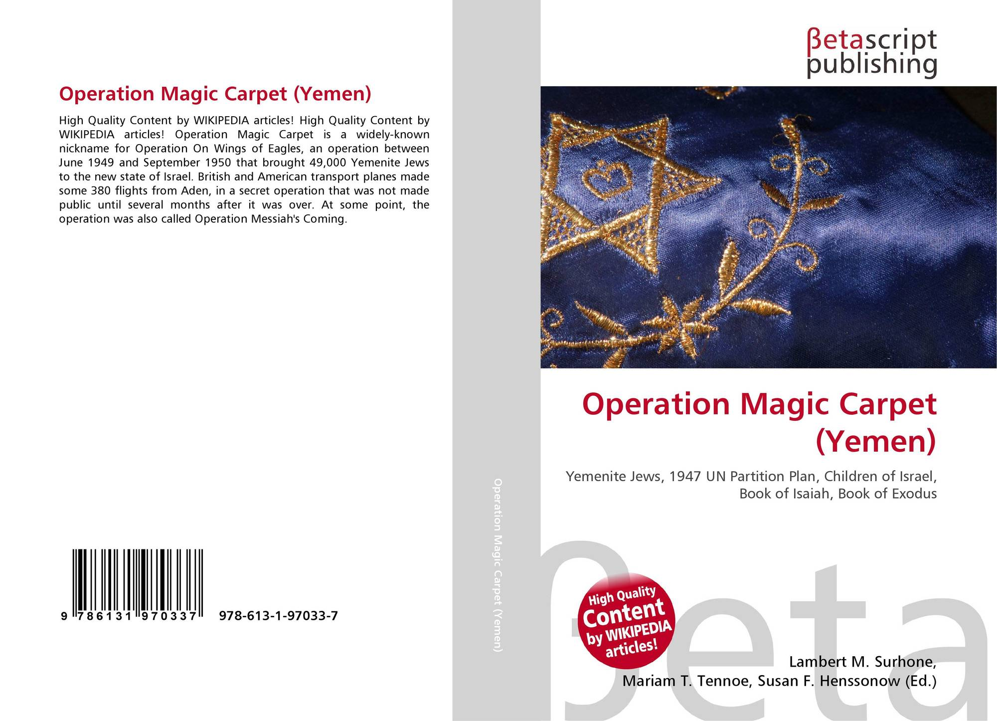 Operation Magic Carpet (Yemen), 978-613-1-97033-7
