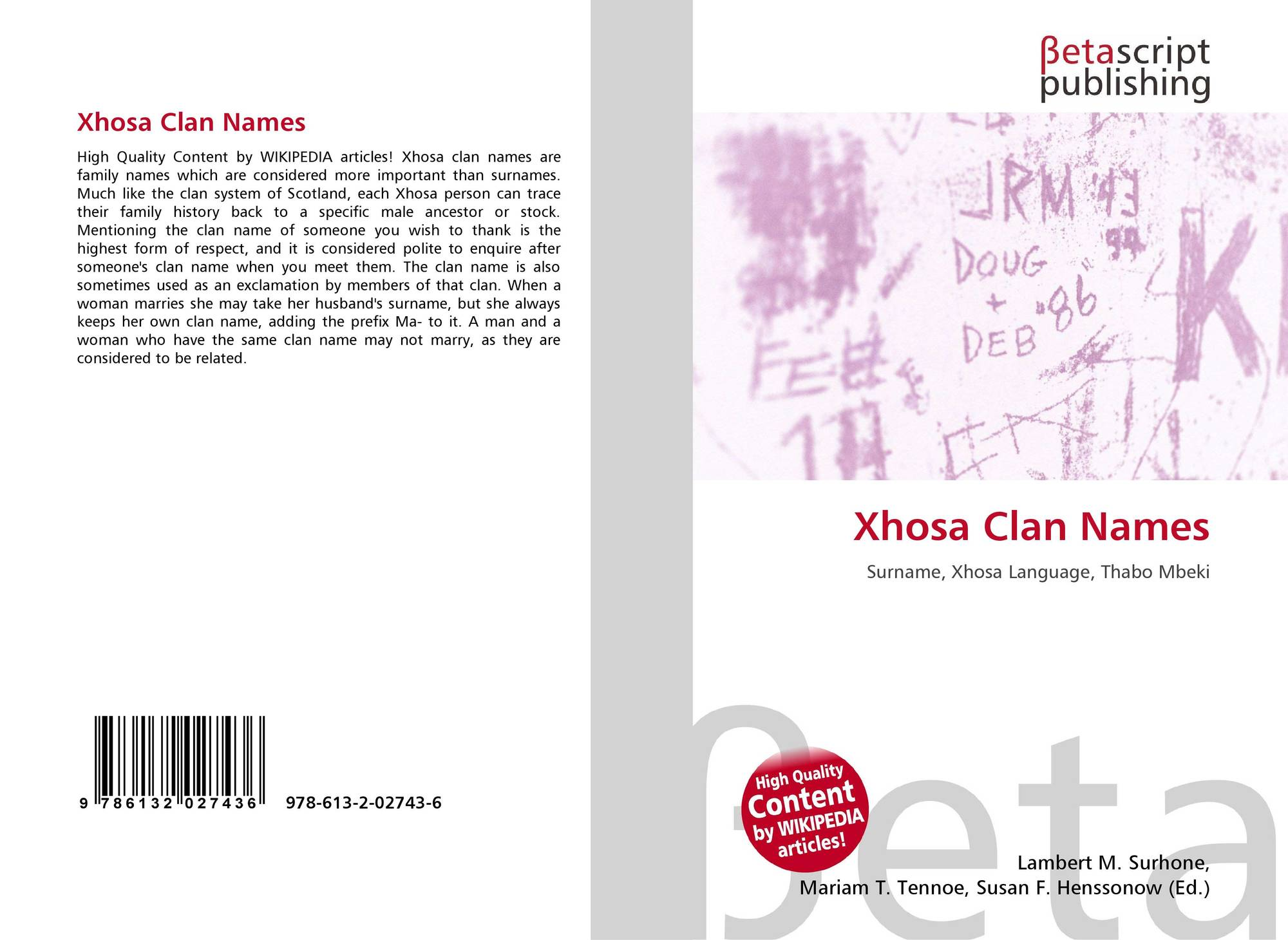 Bookcover of xhosa clan names