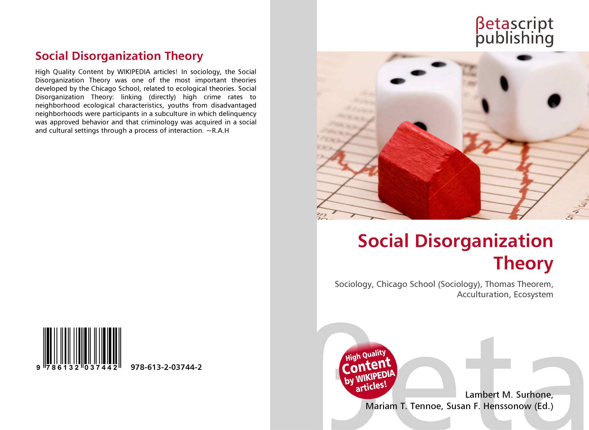 social disorganization theory article related keywords social disorganization theory 978 613 2 03744 6132037446