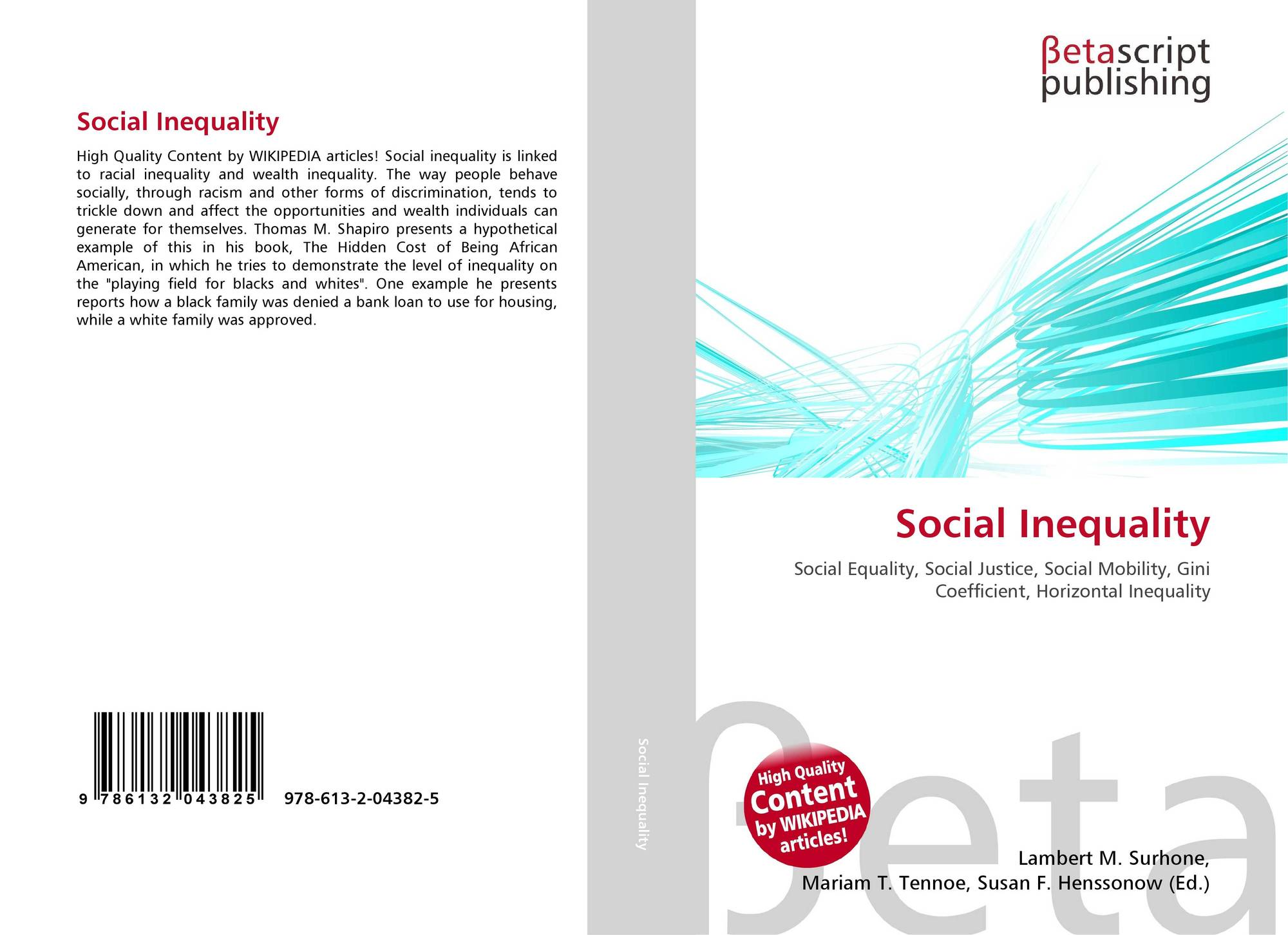 an analysis of social inequality in modern society - social conflict and inequality the social conflict paradigm is a theory based on society being a complex system characterized by inequality and conflict that generate social change personal life experiences dictate me to believe this theory is true.