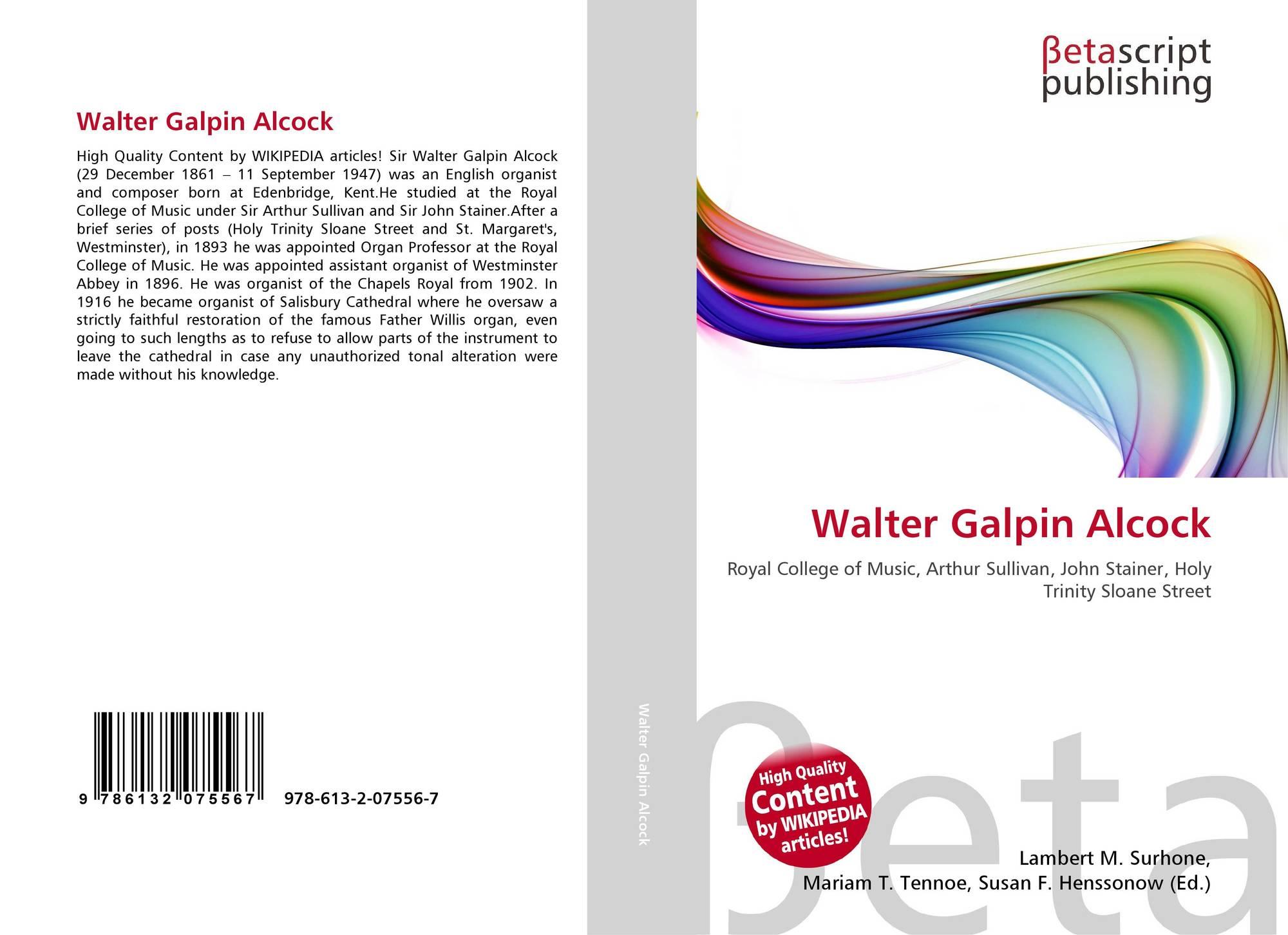 Walter Galpin Alcock