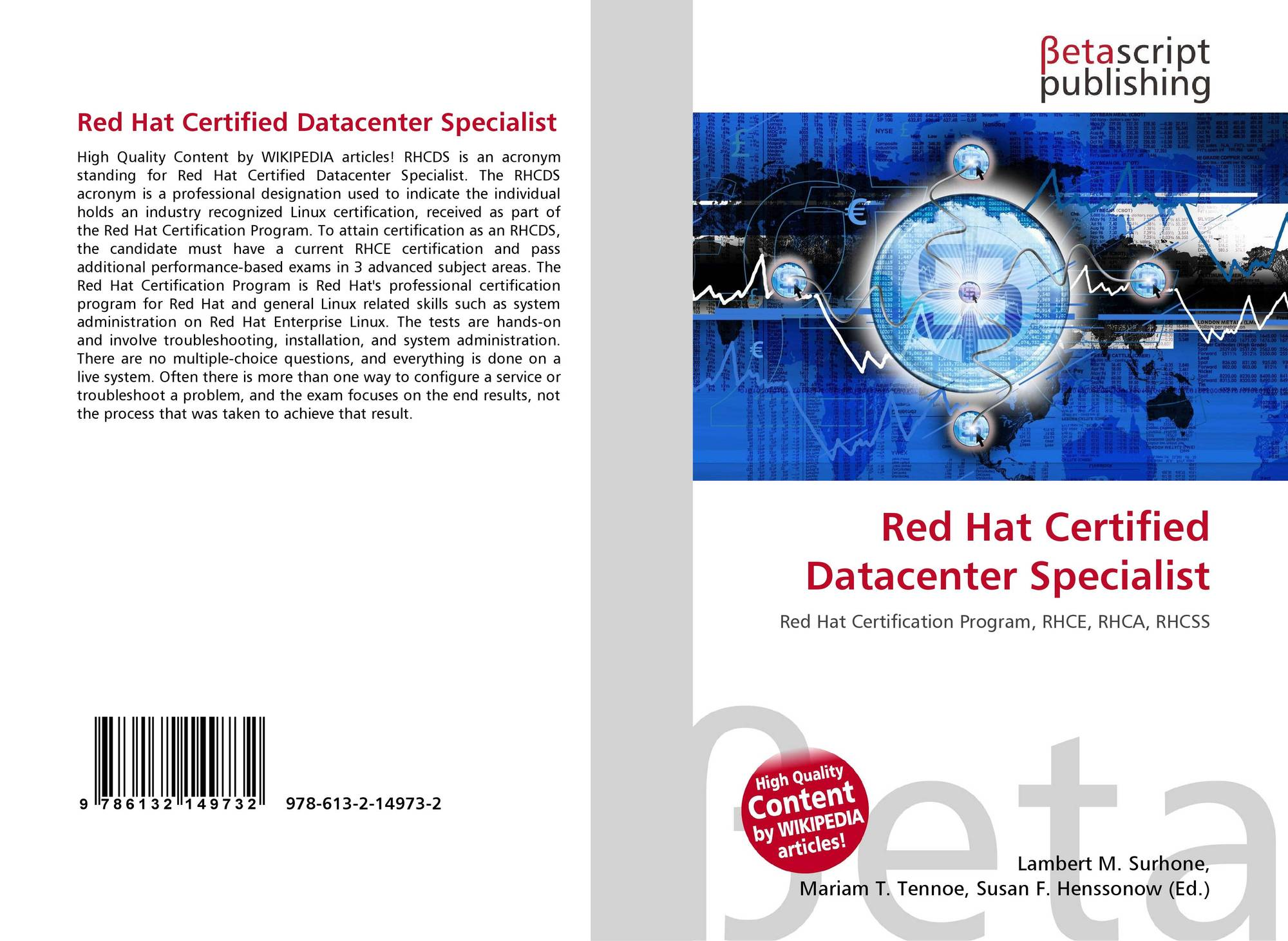 Red Hat Certified Datacenter Specialist 978 613 2 14973 2