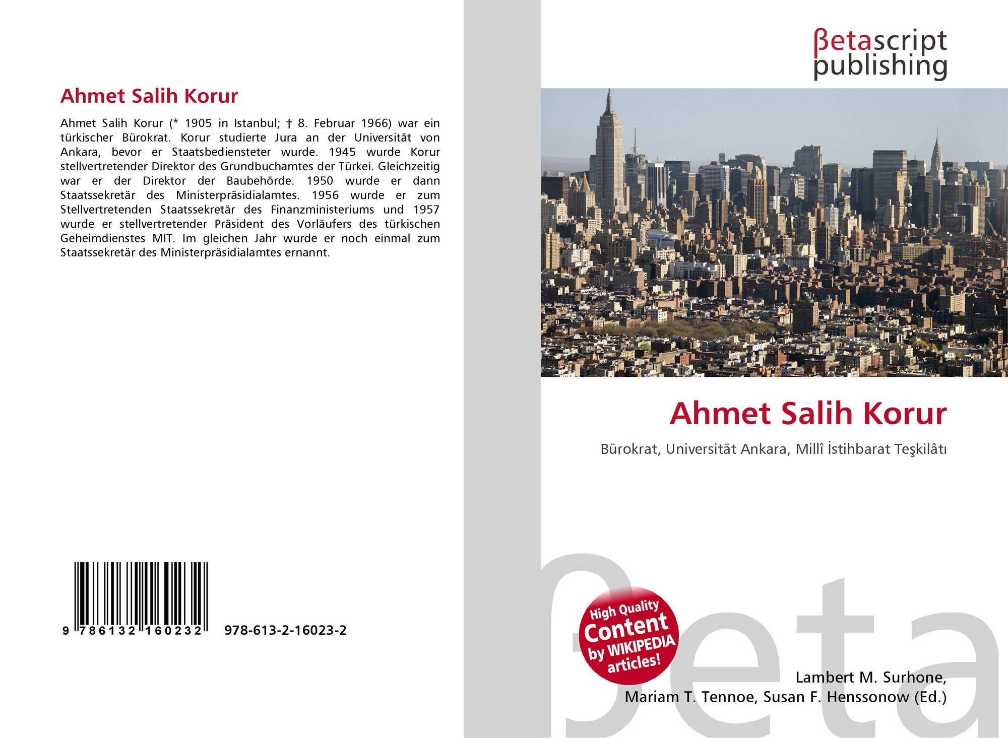 Ahmet Salih Korur 978 613 2 16023 2 613216023x 9786132160232