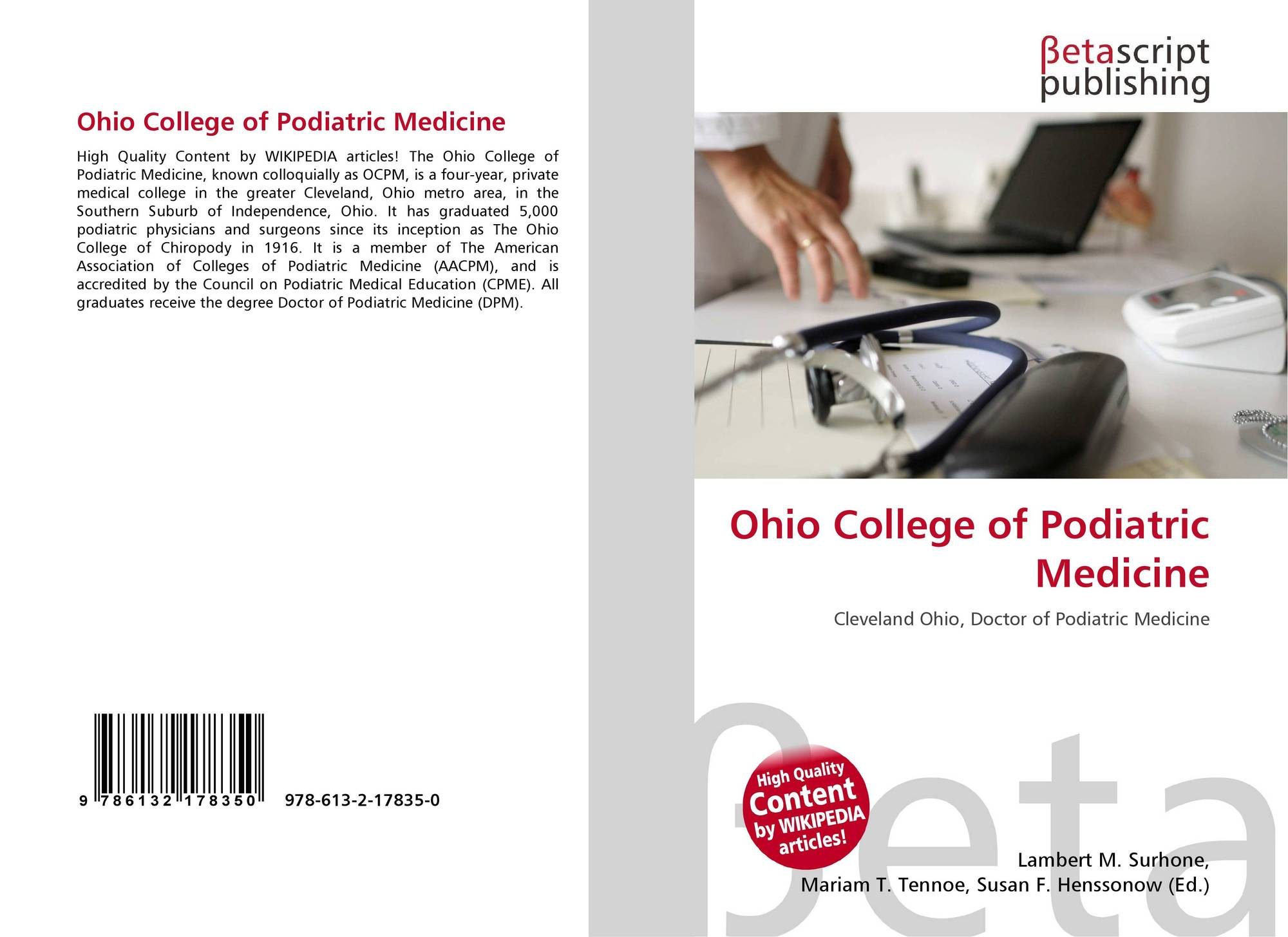 Ohio College of Podiatric Medicine, 978-613-2-17835-0, 61321