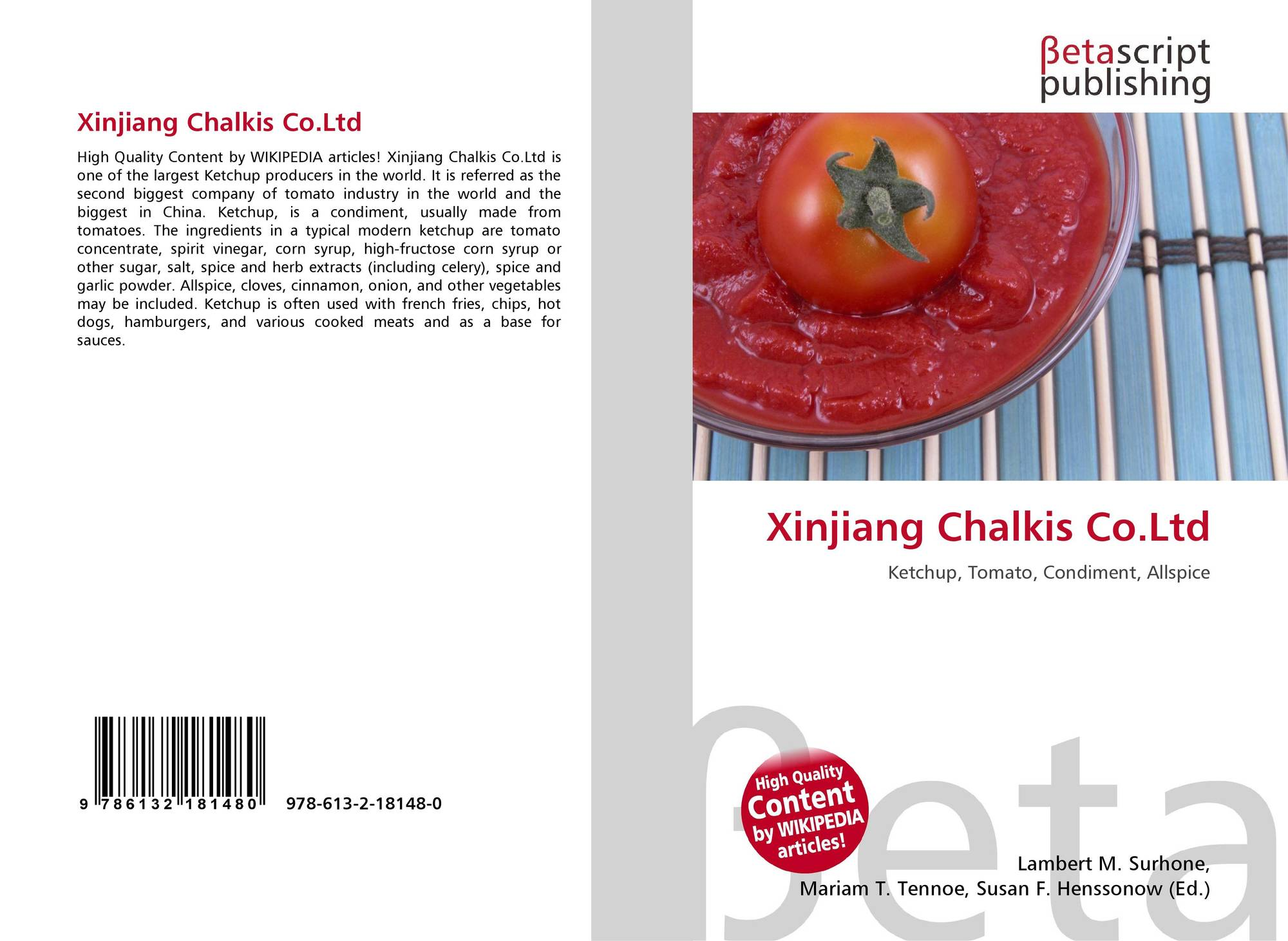 Bookcover of xinjiang chalkis co ltd