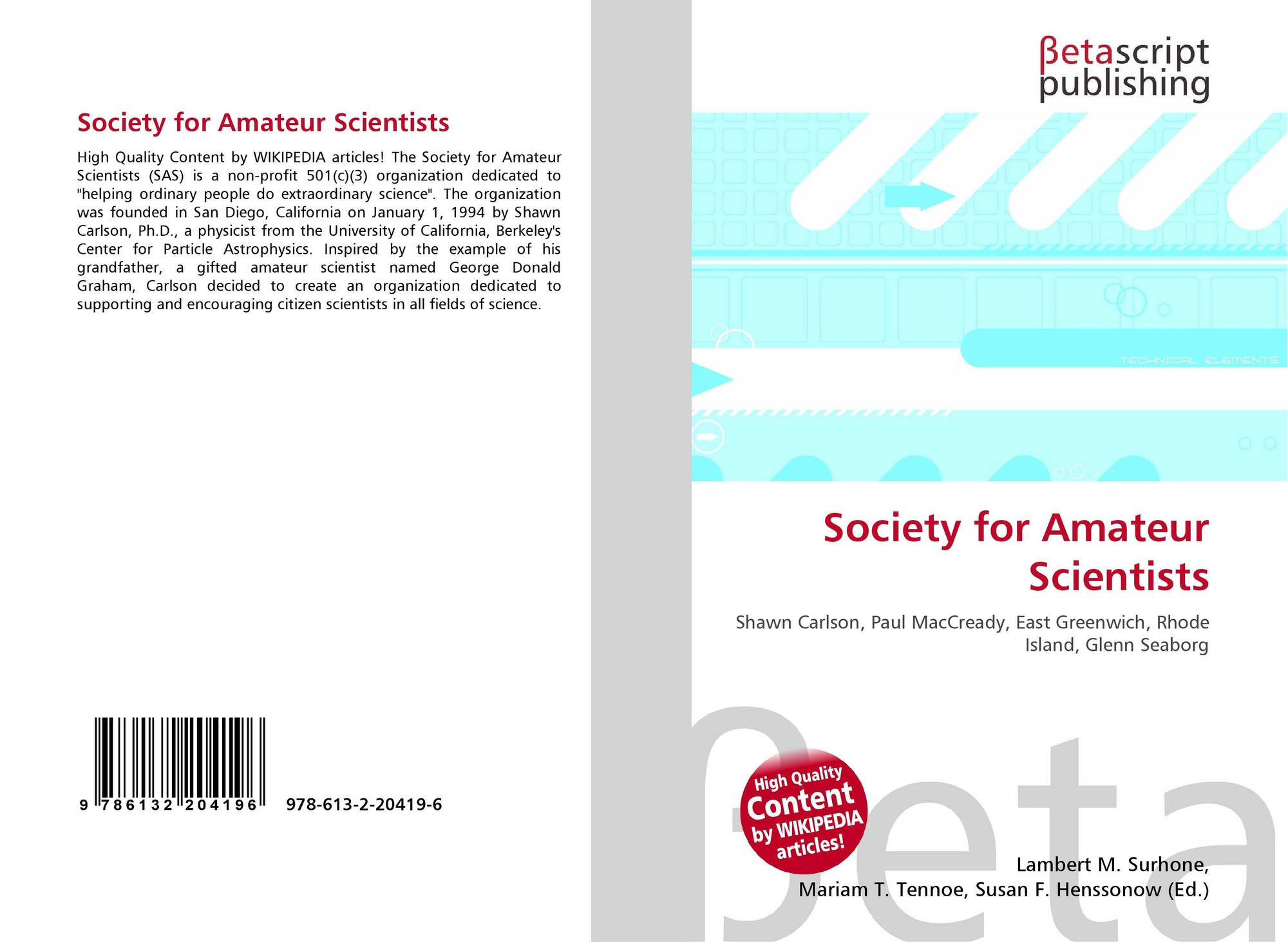 Society of amateur scientists