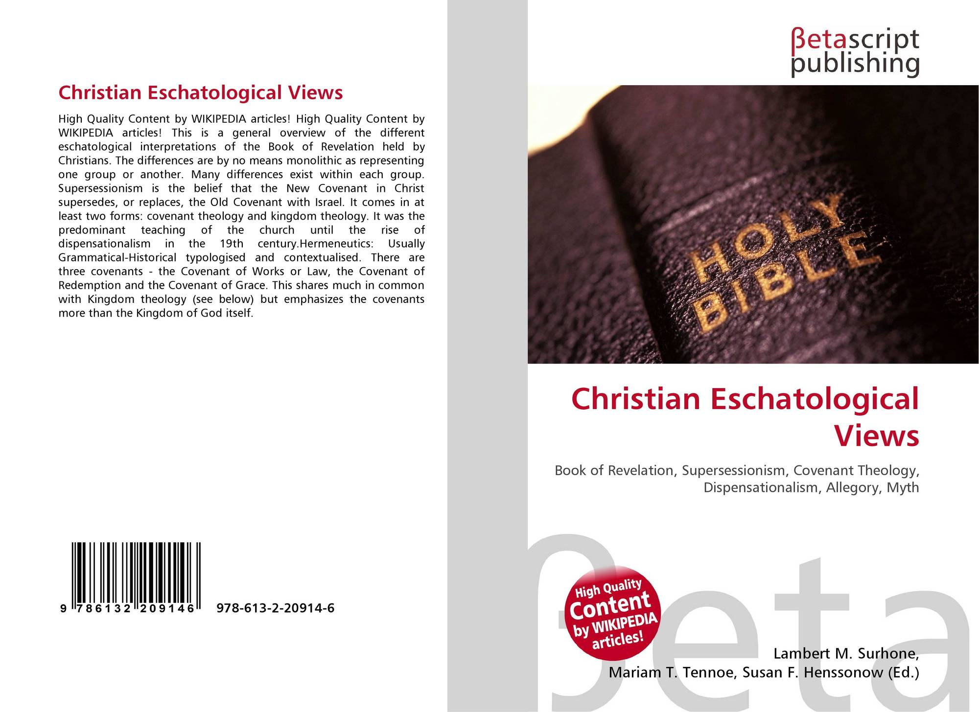 """christian eschatology Theologically speaking, then, the term eschatology refers to """"the study of final  things"""" in the bible it concerns both personal eschatological."""
