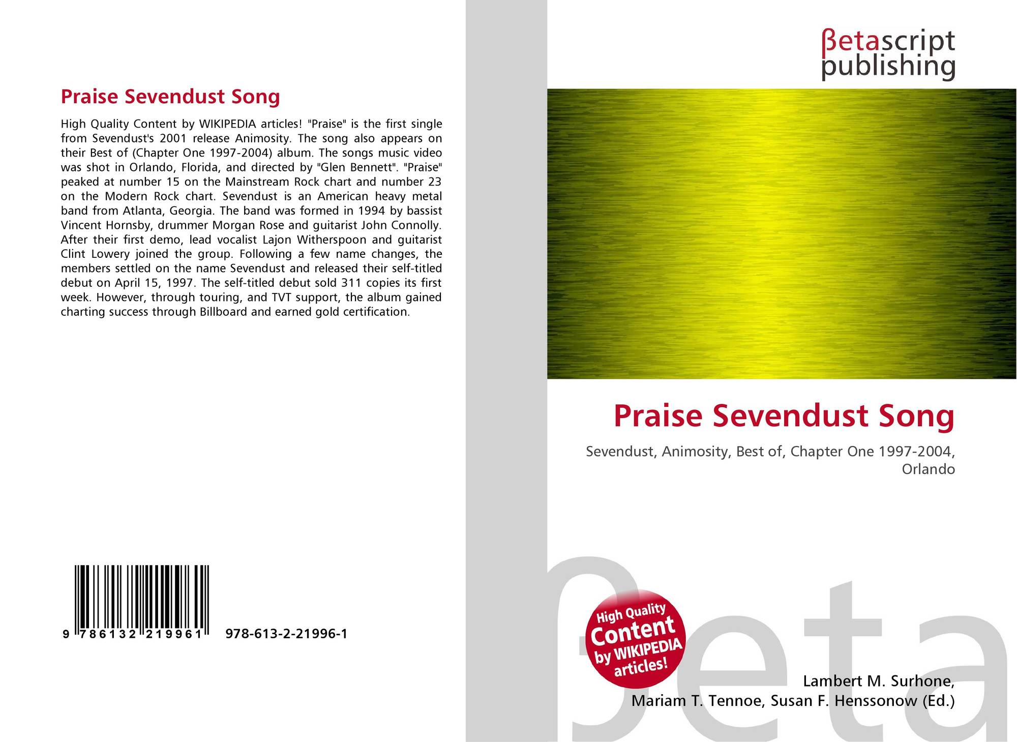 Praise Sevendust Song, 978-613-2-21996-1, 613221996X
